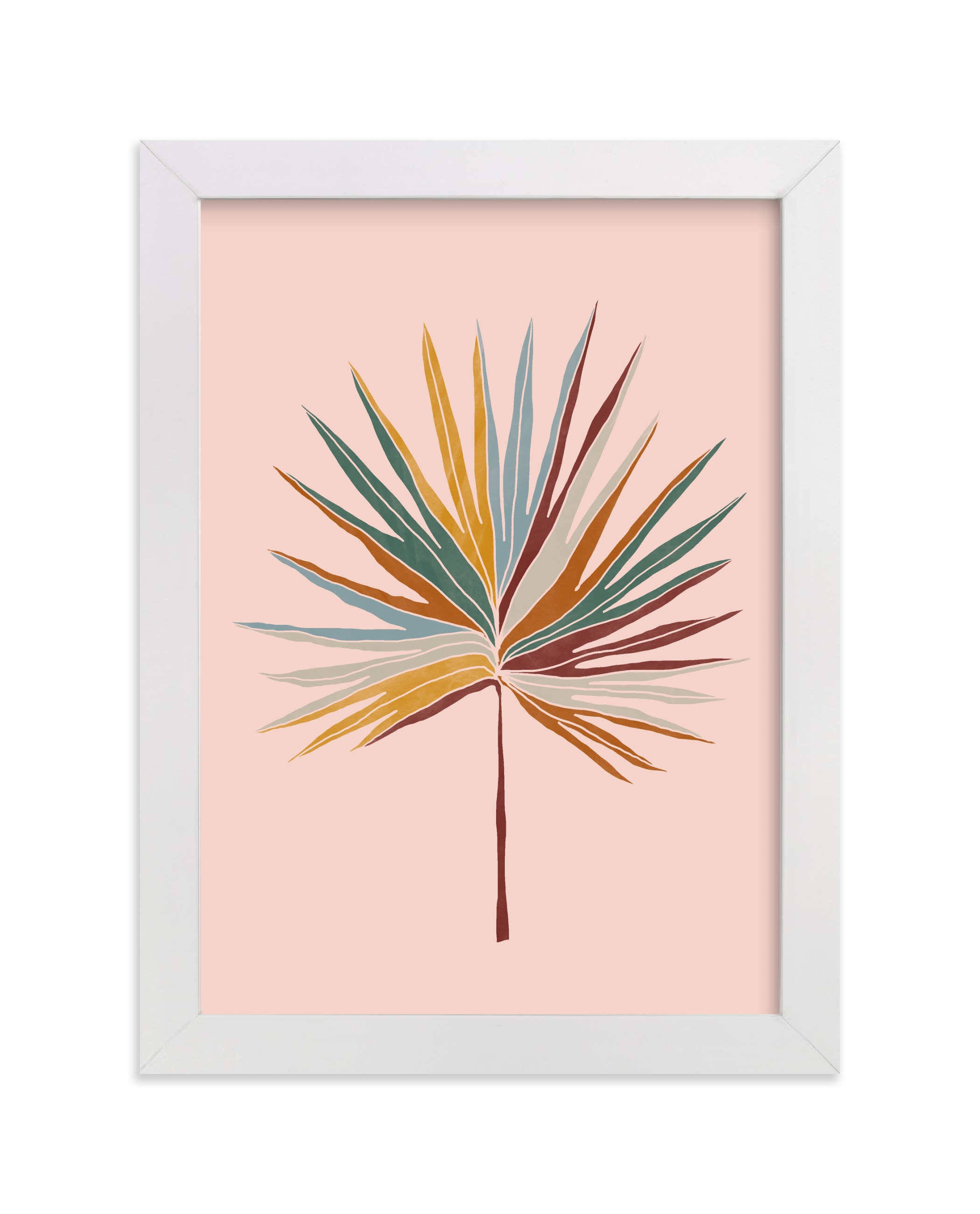 """Chic Palm"" - Limited Edition Art Print by lulu and isabelle in beautiful frame options and a variety of sizes."