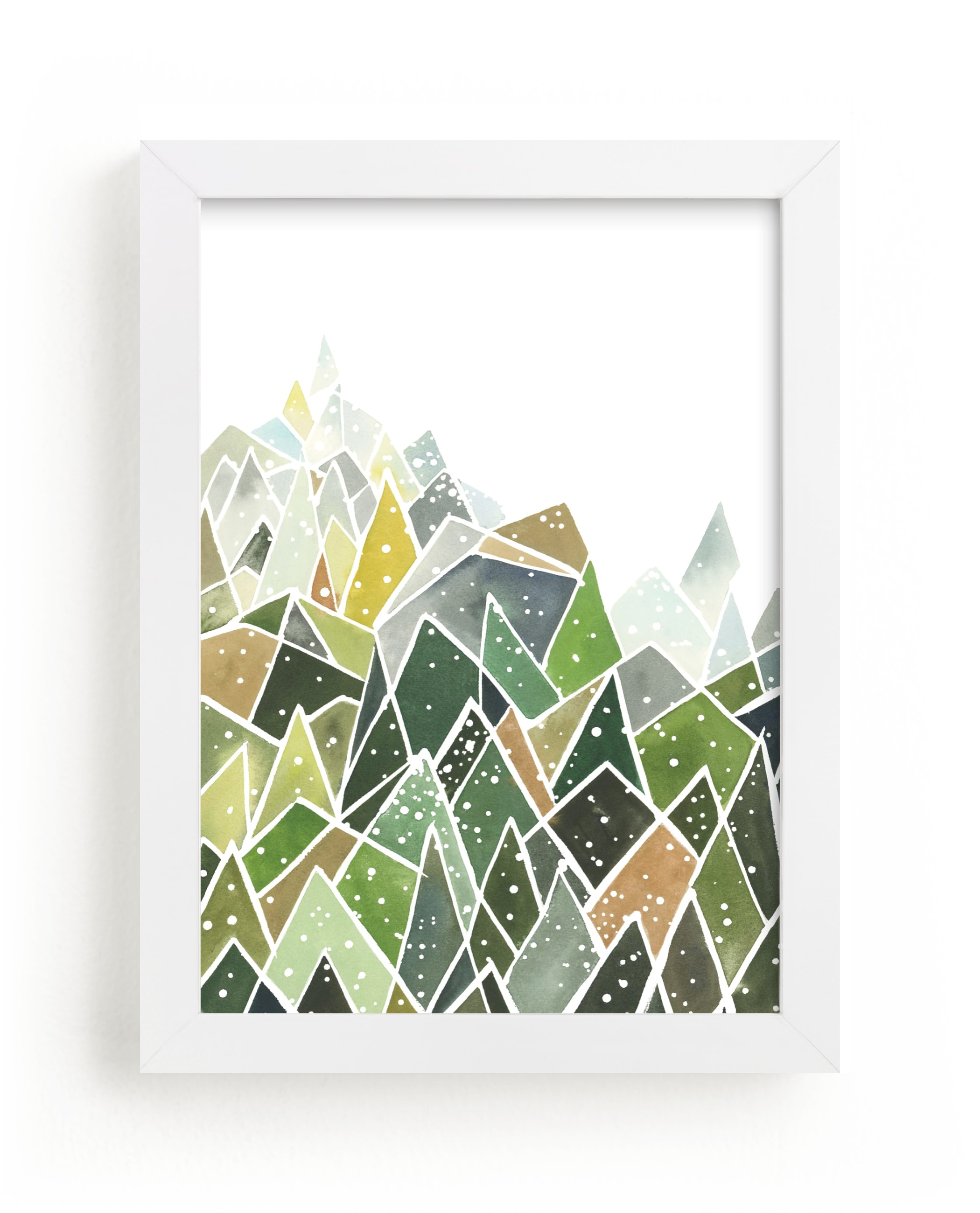 """""""Landscape of Triangles and Dots"""" - Limited Edition Art Print by Yao Cheng Design in beautiful frame options and a variety of sizes."""