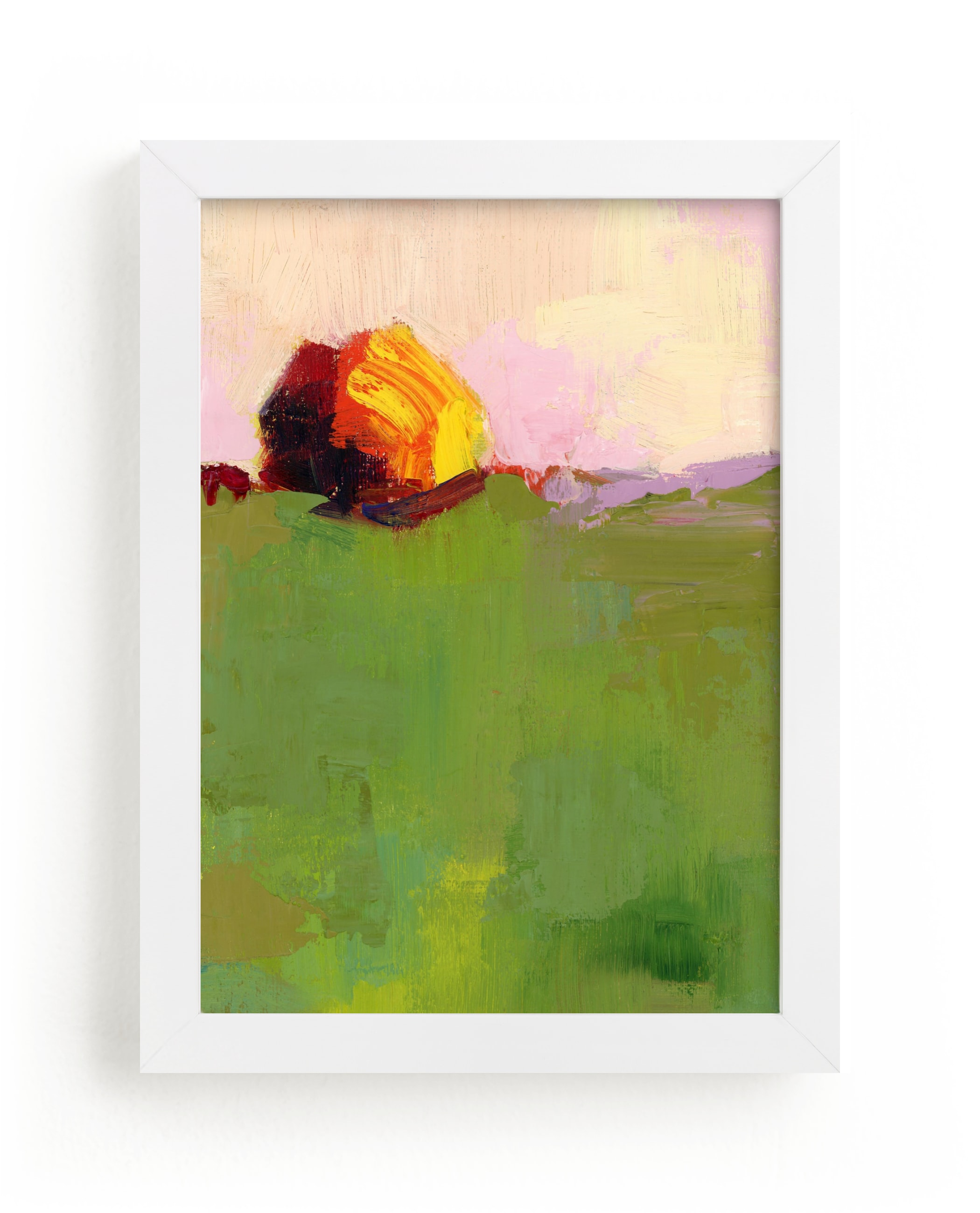 """""""Pasture"""" - Limited Edition Art Print by sue prue in beautiful frame options and a variety of sizes."""