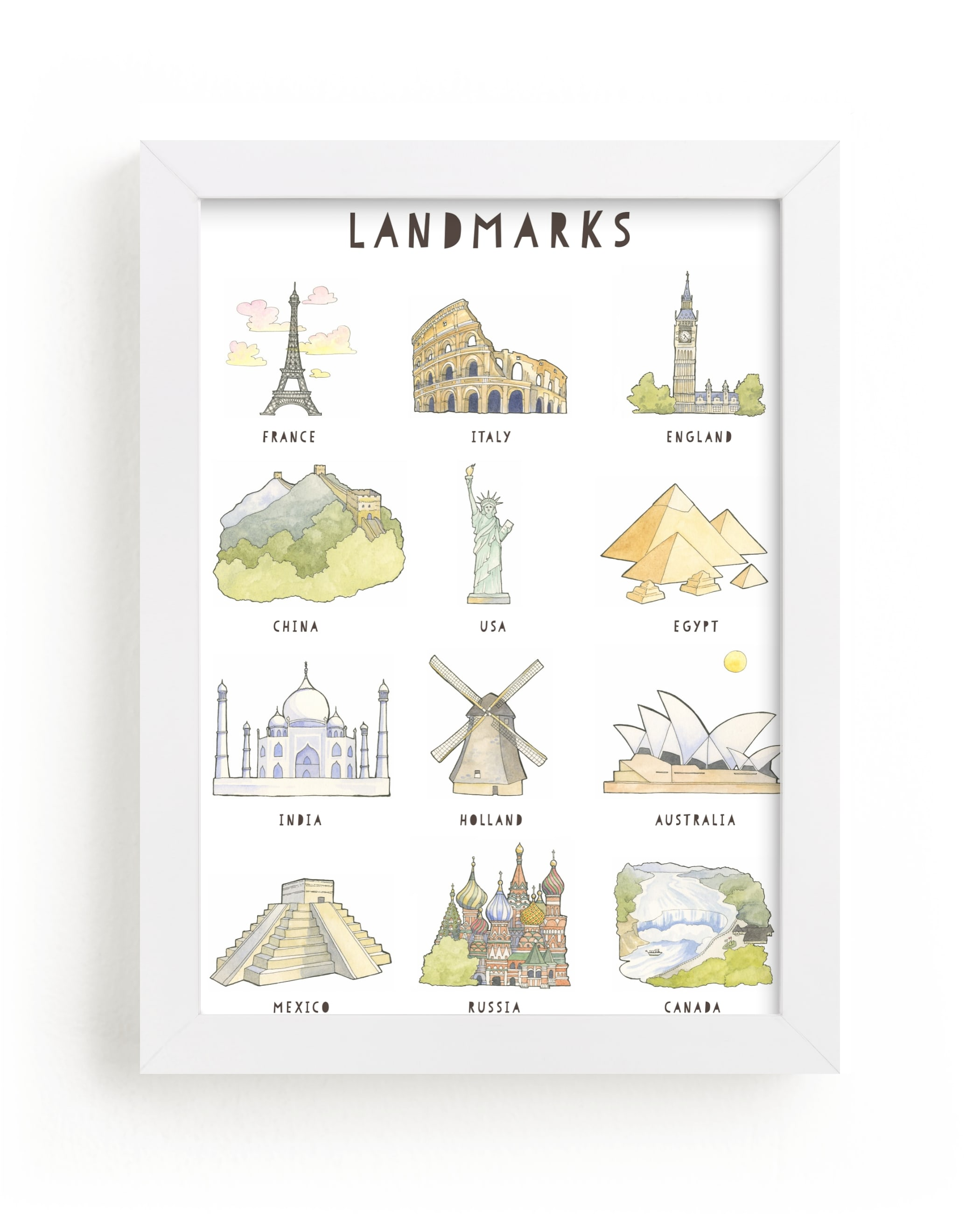 """""""Landmarks"""" - Limited Edition Art Print by Natalie Groves in beautiful frame options and a variety of sizes."""