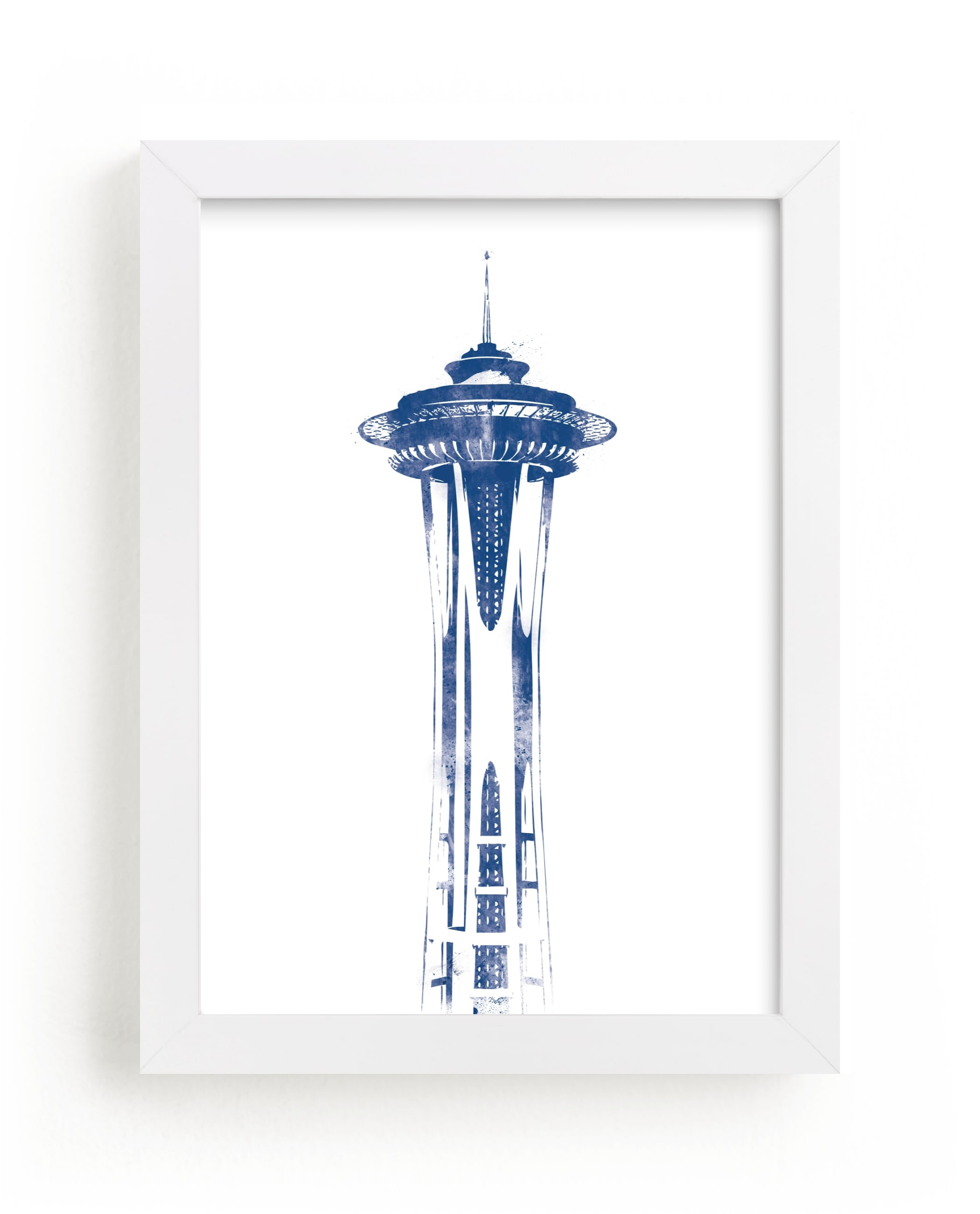 """Space Needle"" - Limited Edition Art Print by Paul Berthelot in beautiful frame options and a variety of sizes."