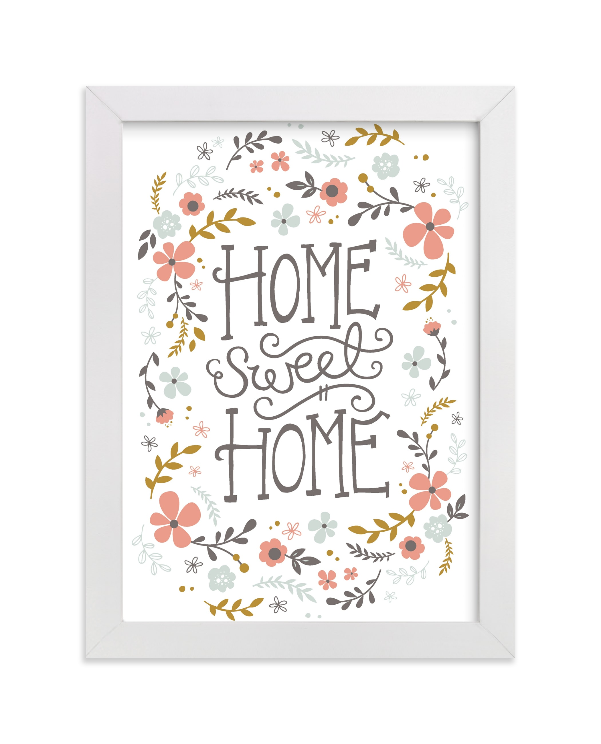 """""""Home Sweet Home"""" - Limited Edition Art Print by Kristen Smith in beautiful frame options and a variety of sizes."""
