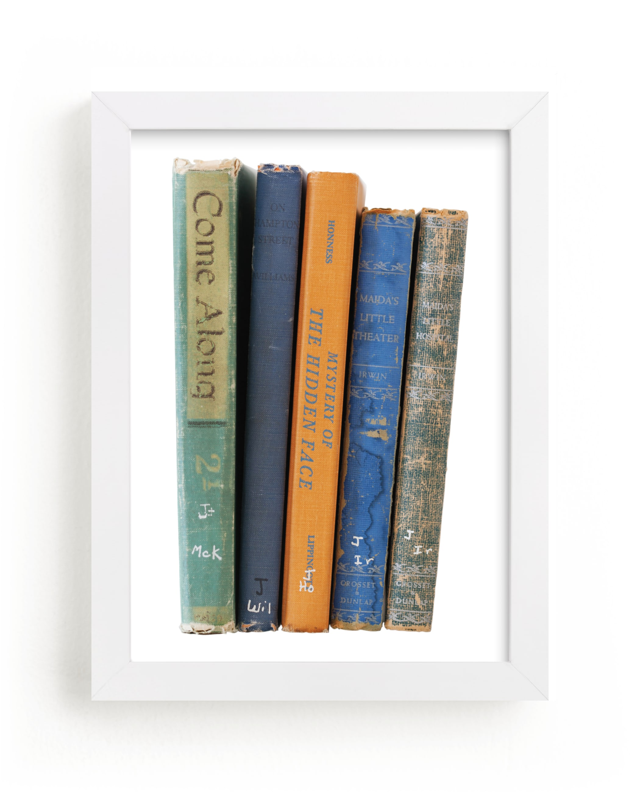"""""""Vintage Books"""" - Limited Edition Art Print by That Girl Studio in beautiful frame options and a variety of sizes."""