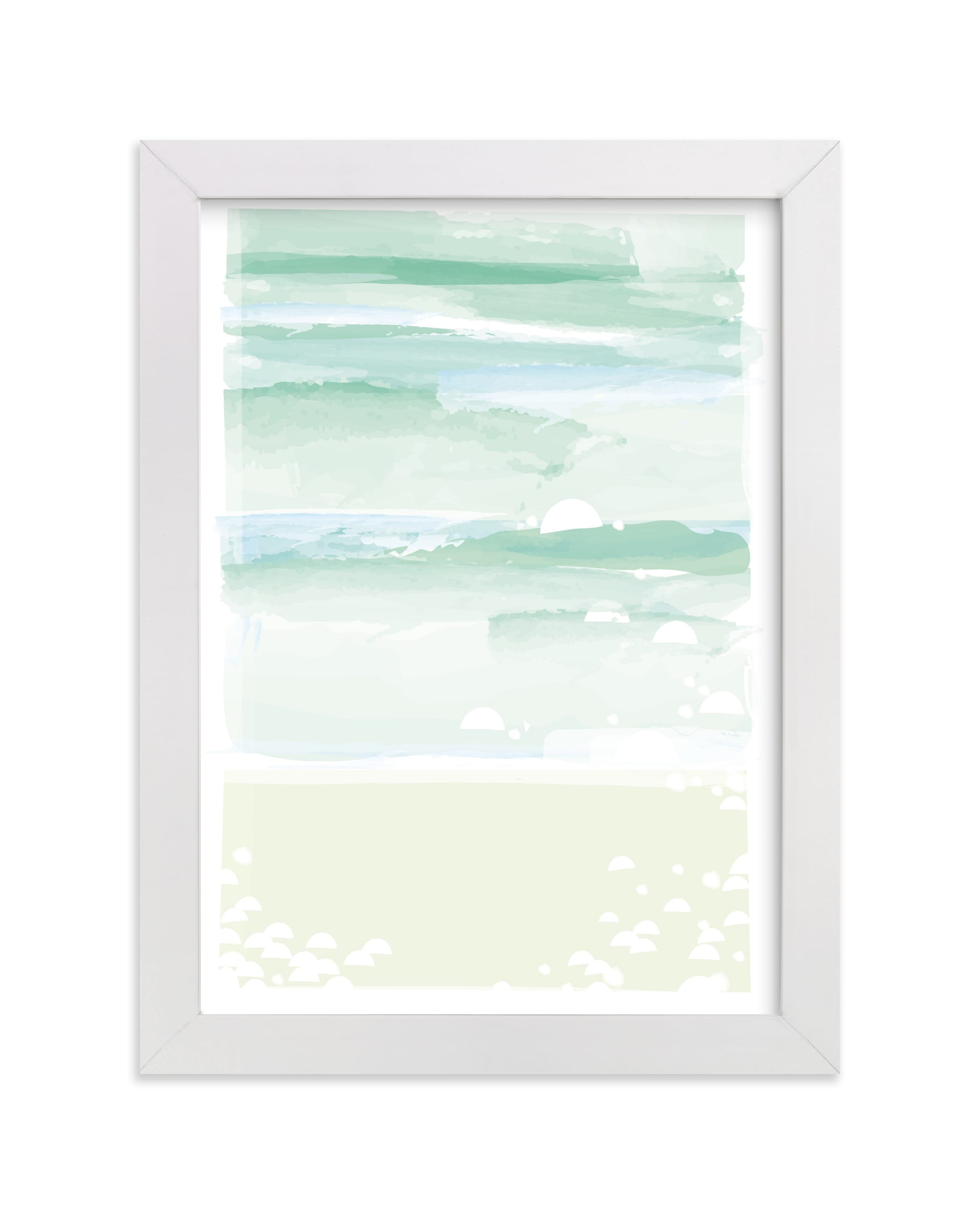 """out to sea."" - Limited Edition Art Print by Carolyn MacLaren in beautiful frame options and a variety of sizes."