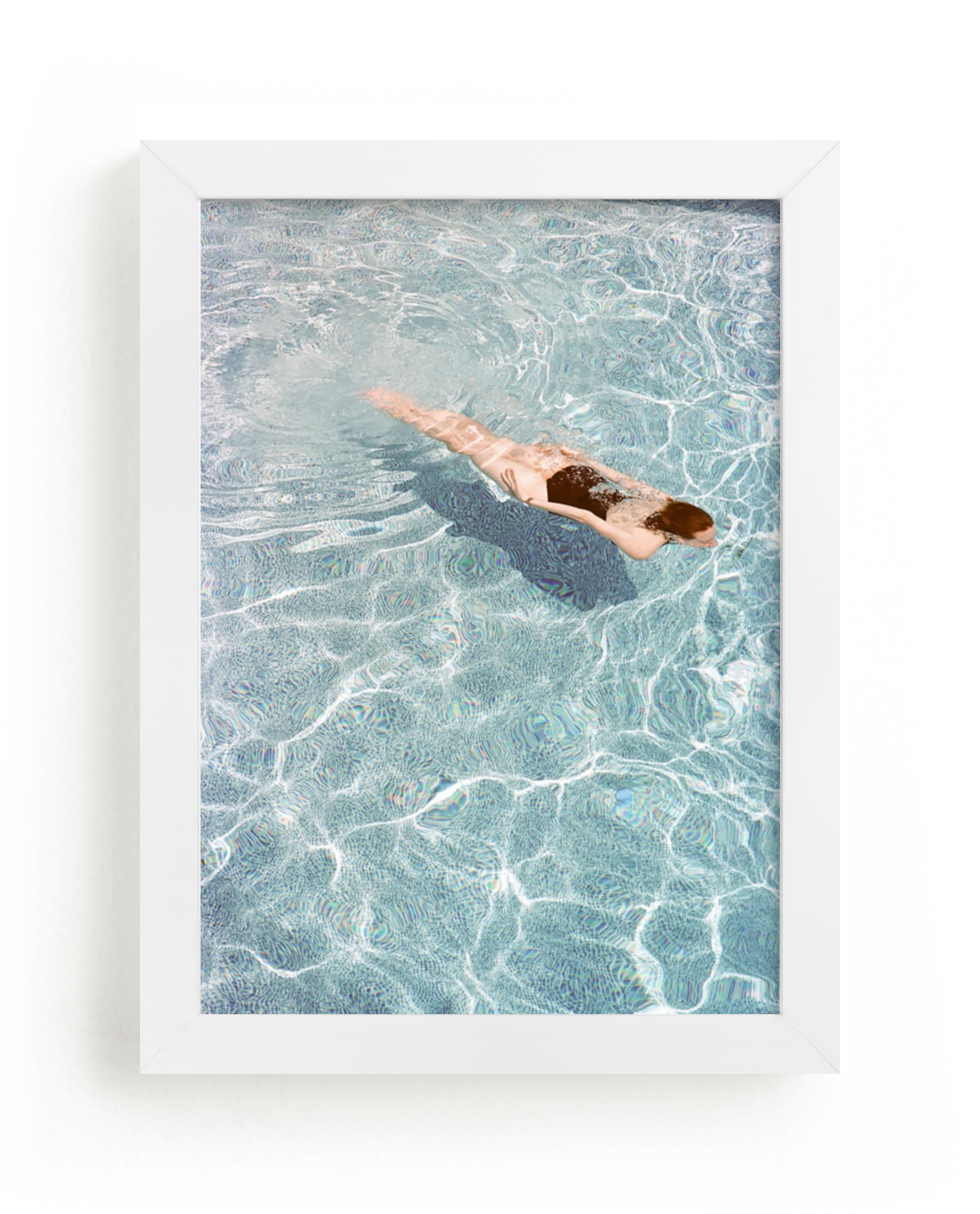 """""""Going for a Swim"""" - Limited Edition Art Print by Whitney Deal in beautiful frame options and a variety of sizes."""