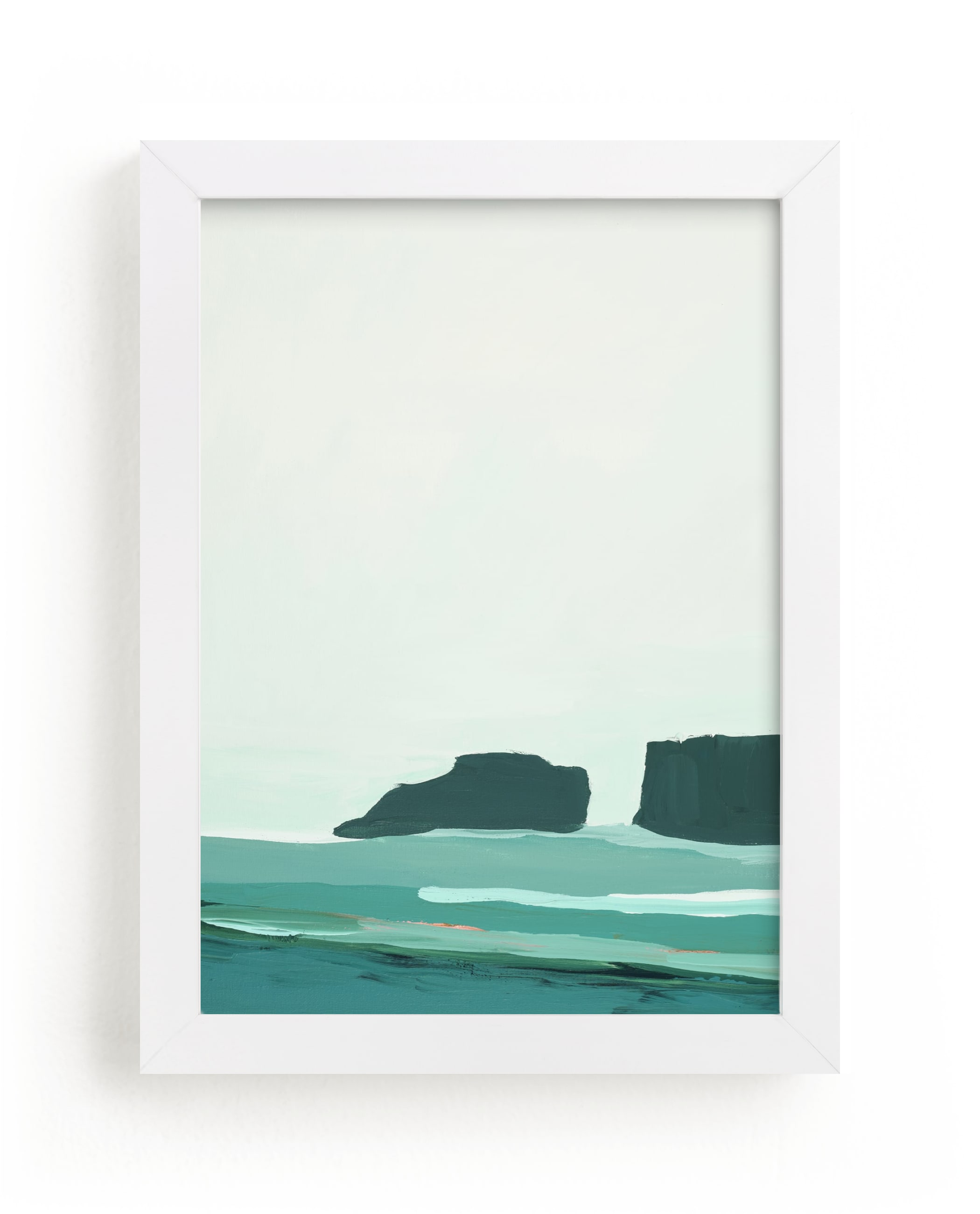 """Abstract Pacific Seascape Diptych 1"" - Limited Edition Art Print by Caryn Owen in beautiful frame options and a variety of sizes."