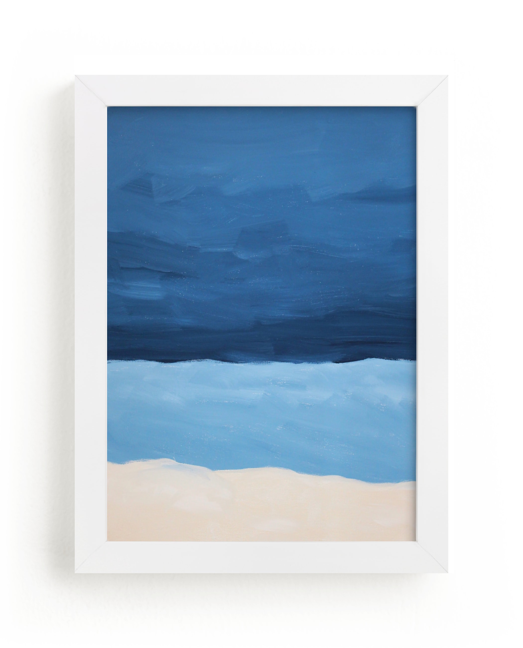 """""""Blue Horizon"""" - Limited Edition Art Print by Colleen Ehrlich in beautiful frame options and a variety of sizes."""