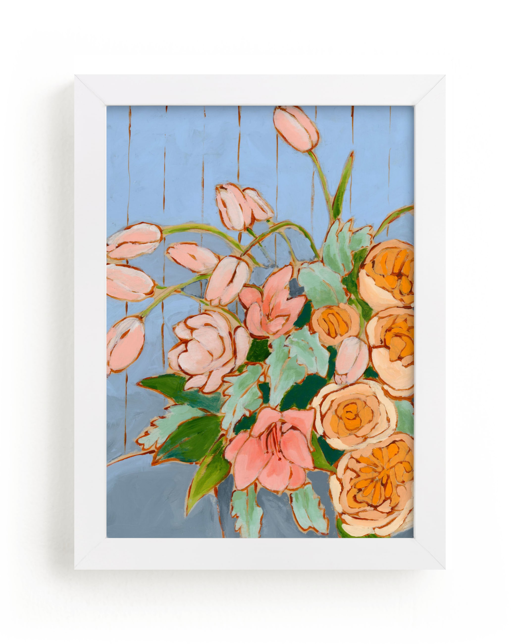 """""""From a Table in Carolina"""" - Limited Edition Art Print by Jennifer Allevato in beautiful frame options and a variety of sizes."""