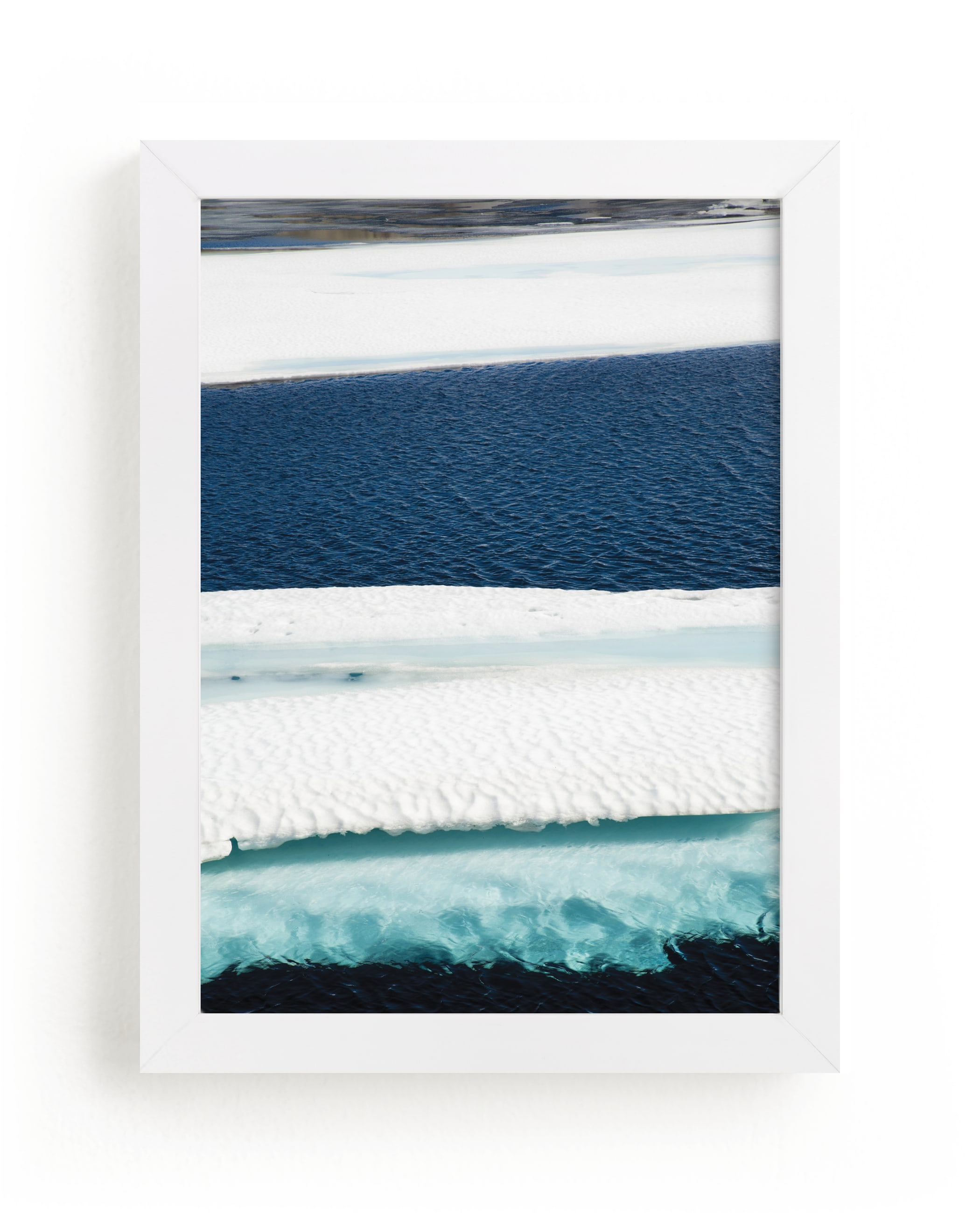 """""""Brush in turquoise"""" - Limited Edition Art Print by Van Tsao in beautiful frame options and a variety of sizes."""