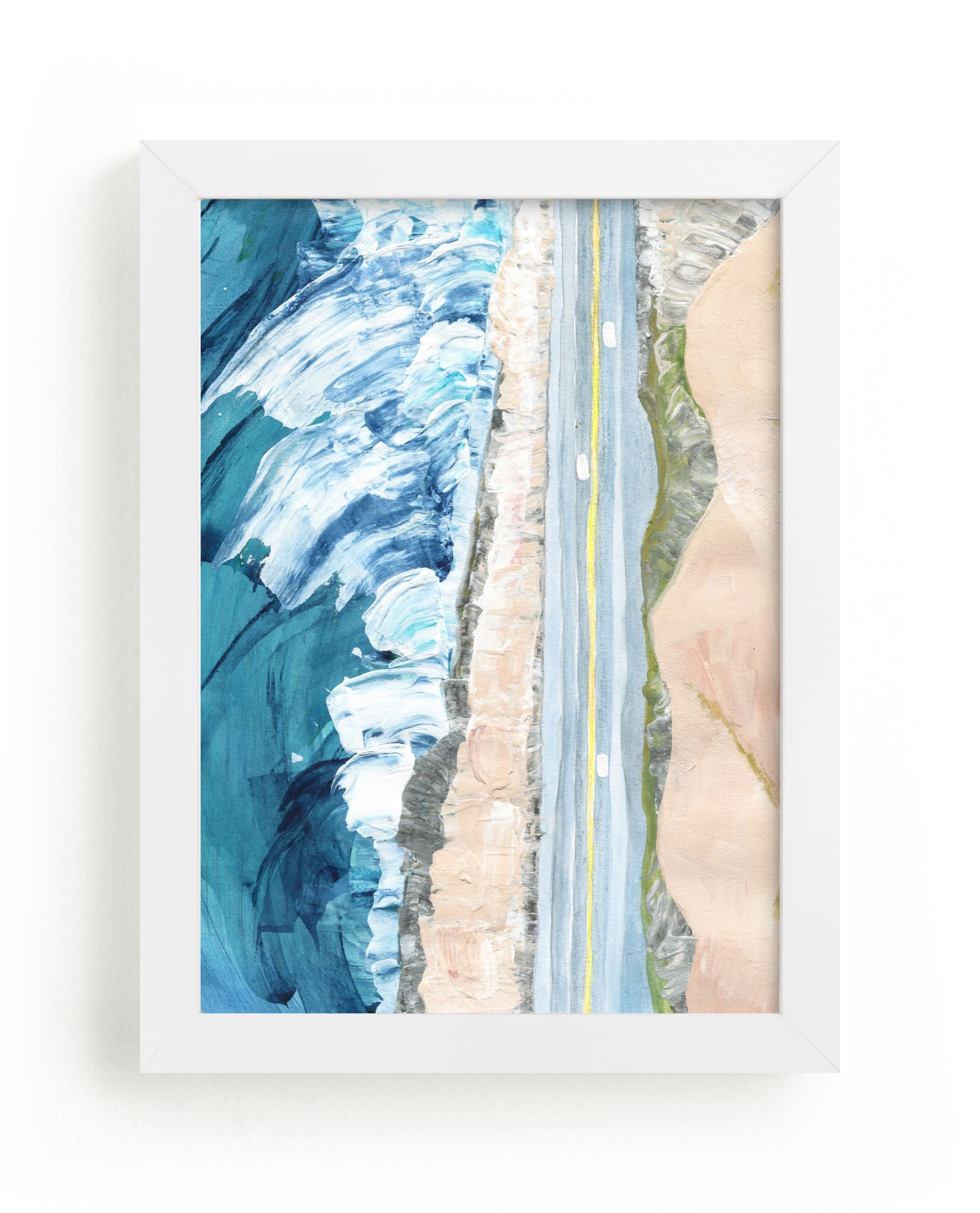 """""""Pacific Coast Highway"""" - Limited Edition Art Print by Denise Wong in beautiful frame options and a variety of sizes."""
