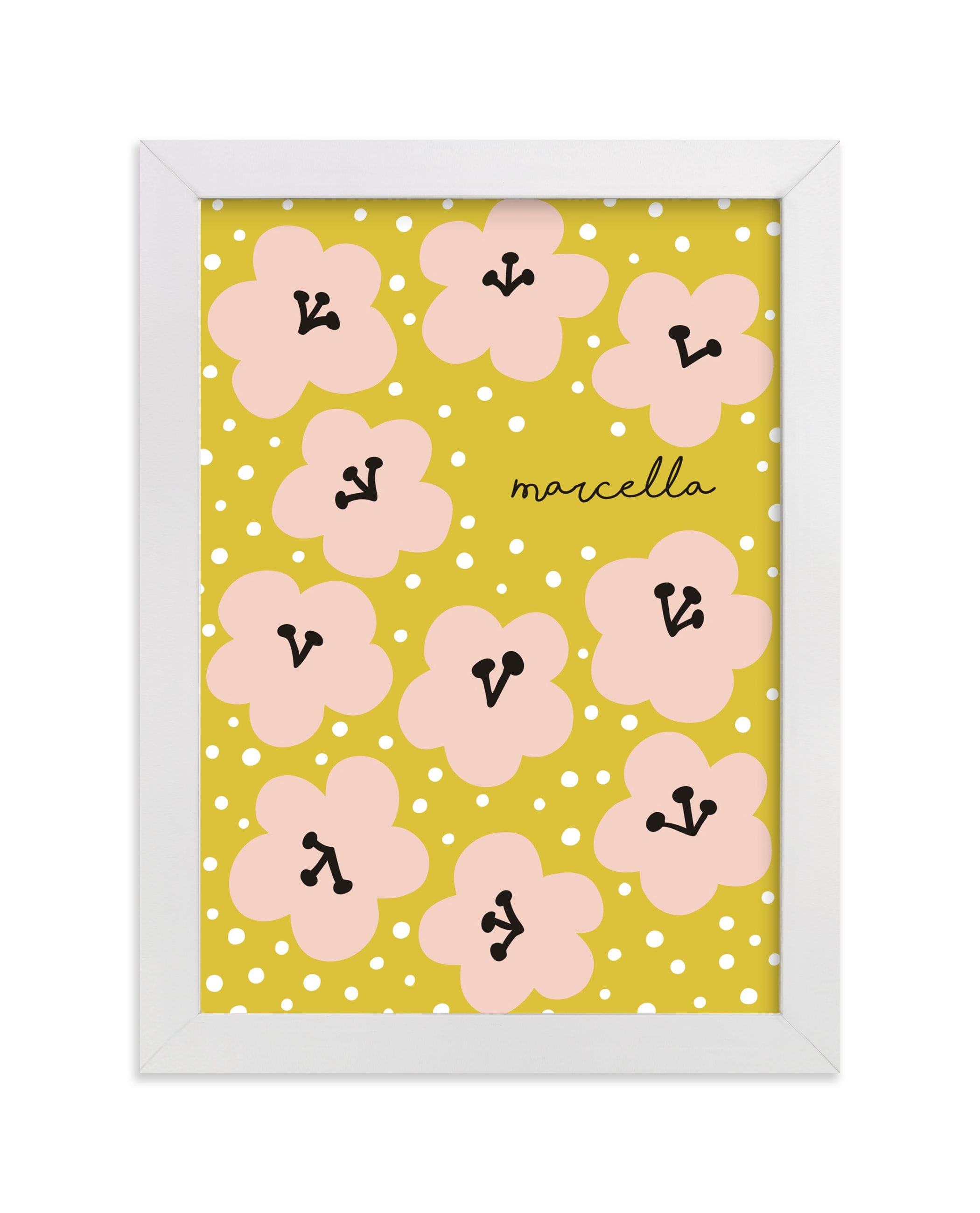 """""""Marcella"""" - Children's Custom Art Print by Nieves Herranz in beautiful frame options and a variety of sizes."""