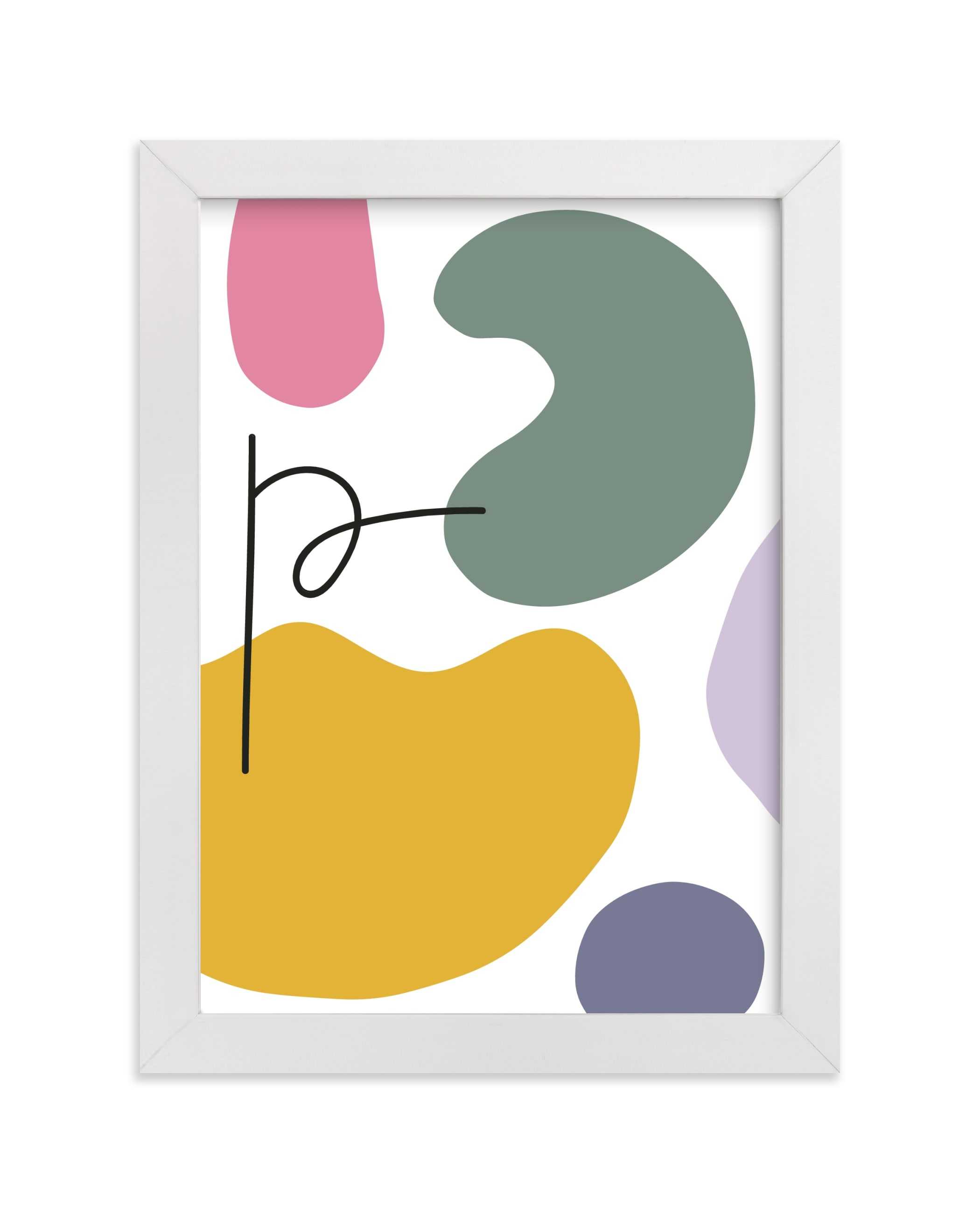 """""""Abstract Shapes II"""" - Children's Custom Art Print by Sumak Studio in beautiful frame options and a variety of sizes."""