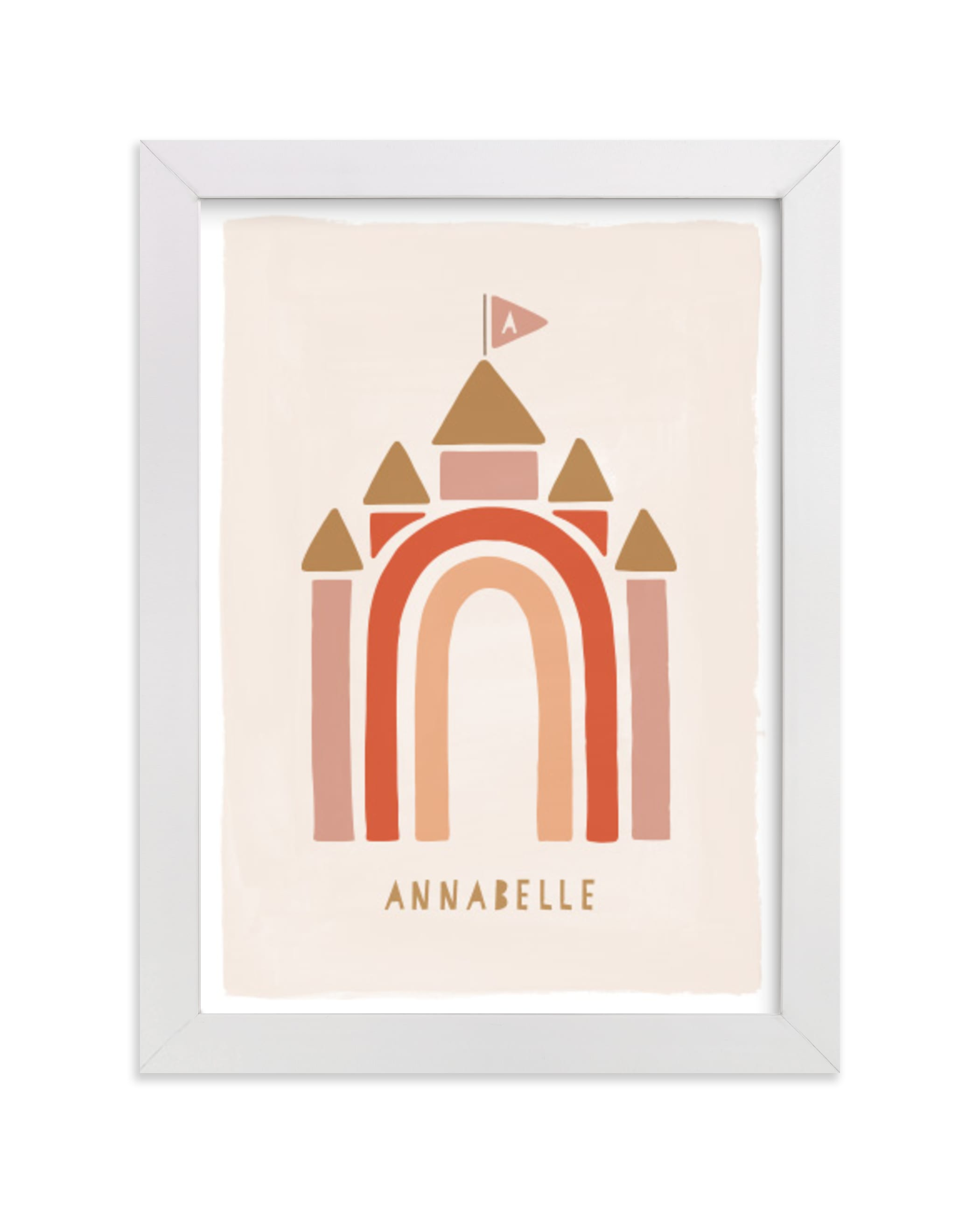 """""""Rainbow Castle"""" - Children's Custom Art Print by JeAnna Casper in beautiful frame options and a variety of sizes."""
