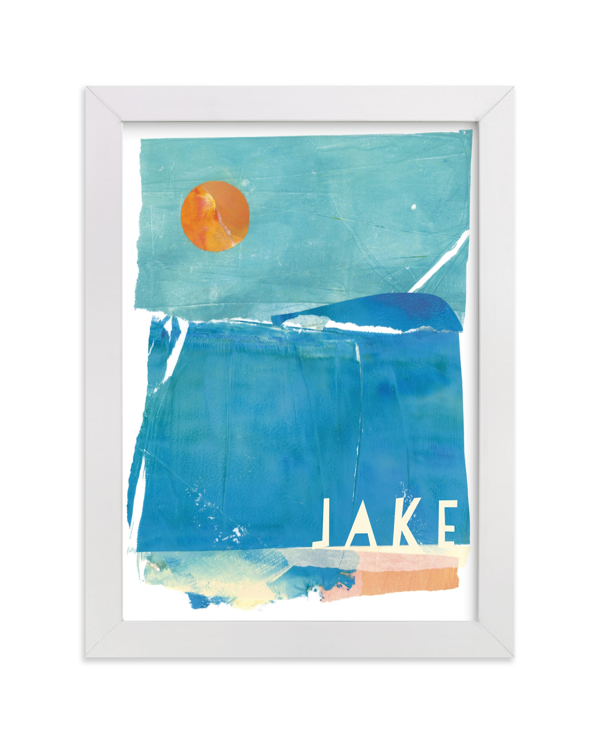"""""""Night Swim"""" - Children's Custom Art Print by sue prue in beautiful frame options and a variety of sizes."""