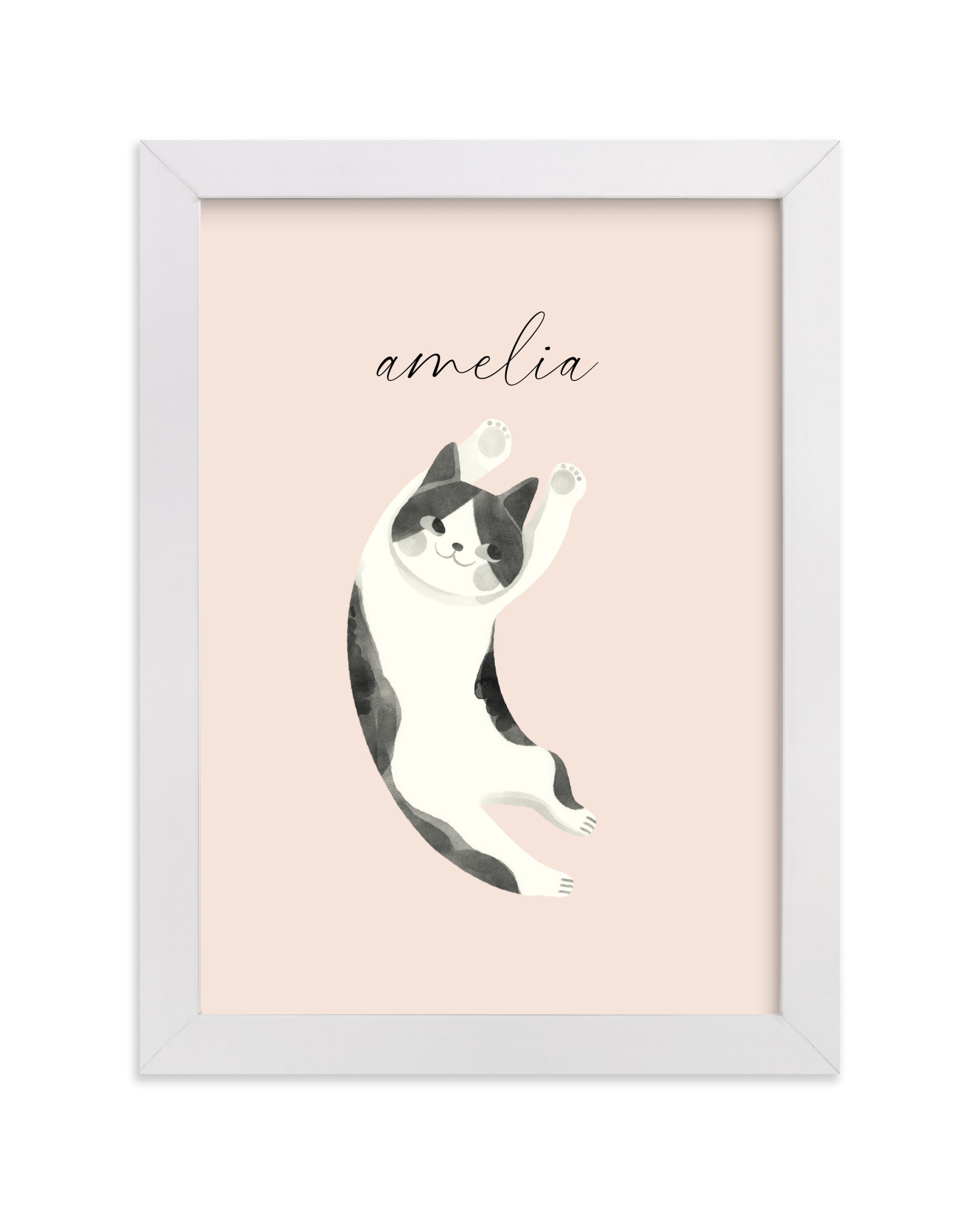 """""""Feline"""" - Children's Custom Art Print by Vivian Yiwing in beautiful frame options and a variety of sizes."""