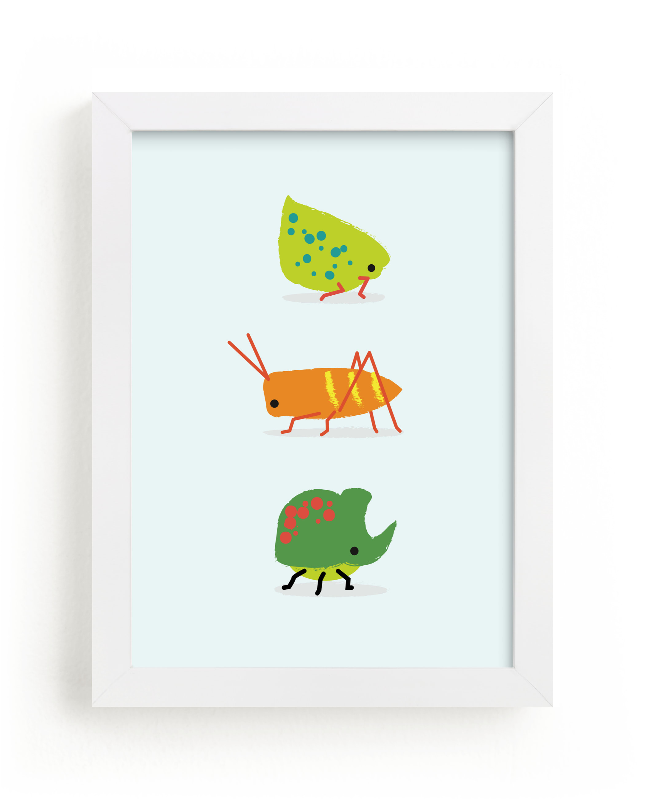 """Bugs"" - Limited Edition Art Print by Itsy Belle Studio in beautiful frame options and a variety of sizes."