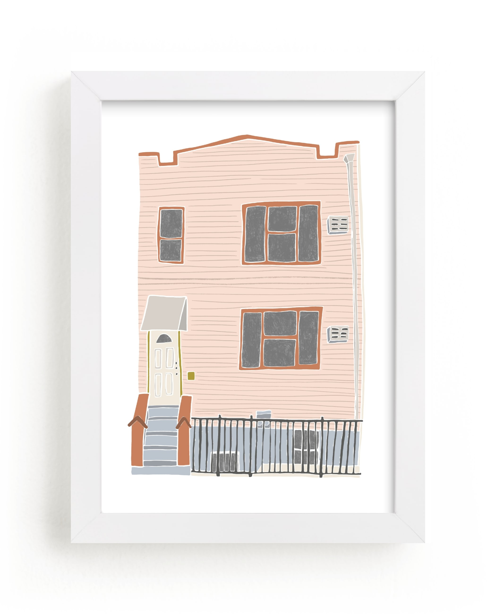 """Home in Greenpoint"" - Limited Edition Art Print by Alicia Schultz in beautiful frame options and a variety of sizes."