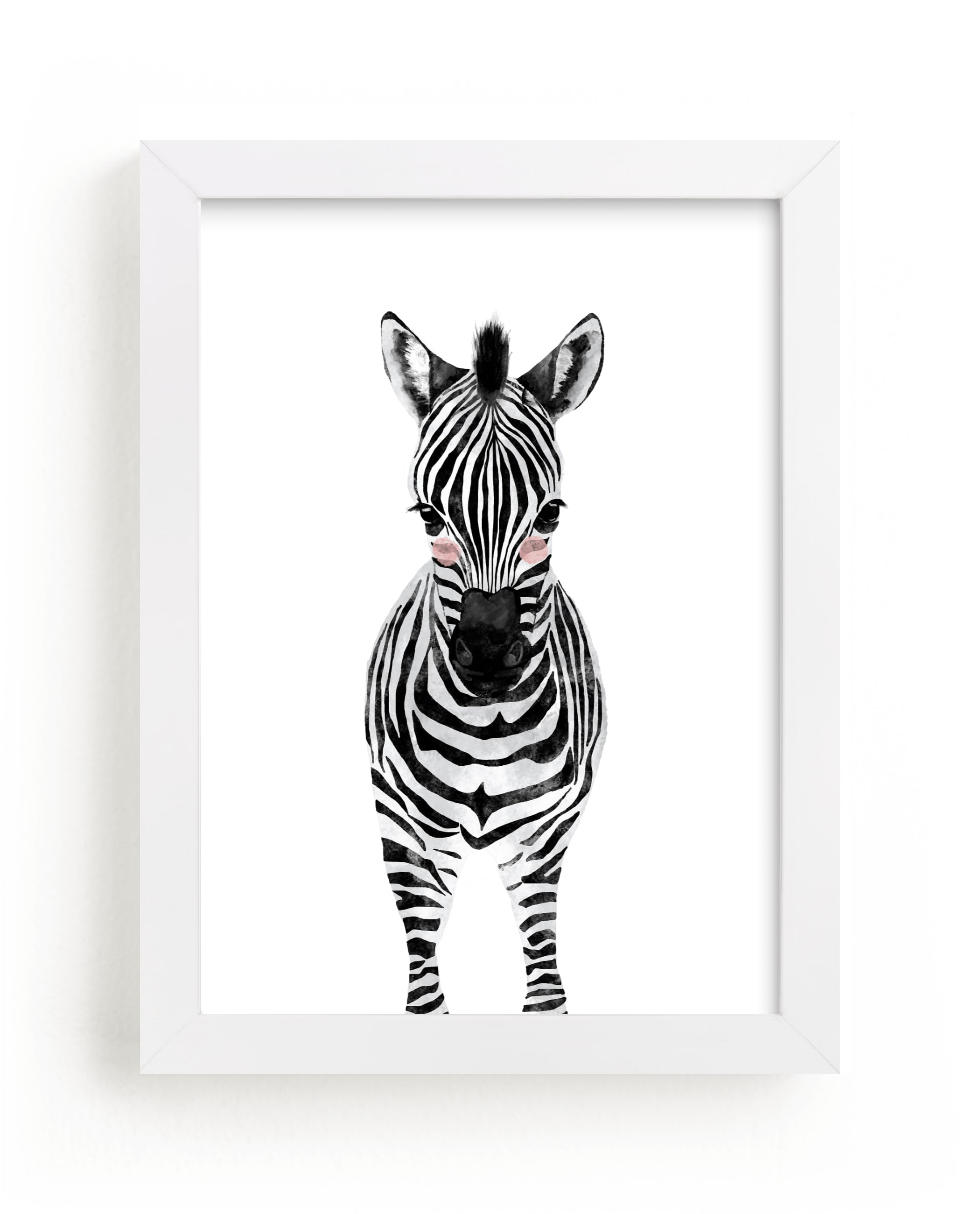 """""""baby animal.zebra"""" - Limited Edition Art Print by Cass Loh in beautiful frame options and a variety of sizes."""