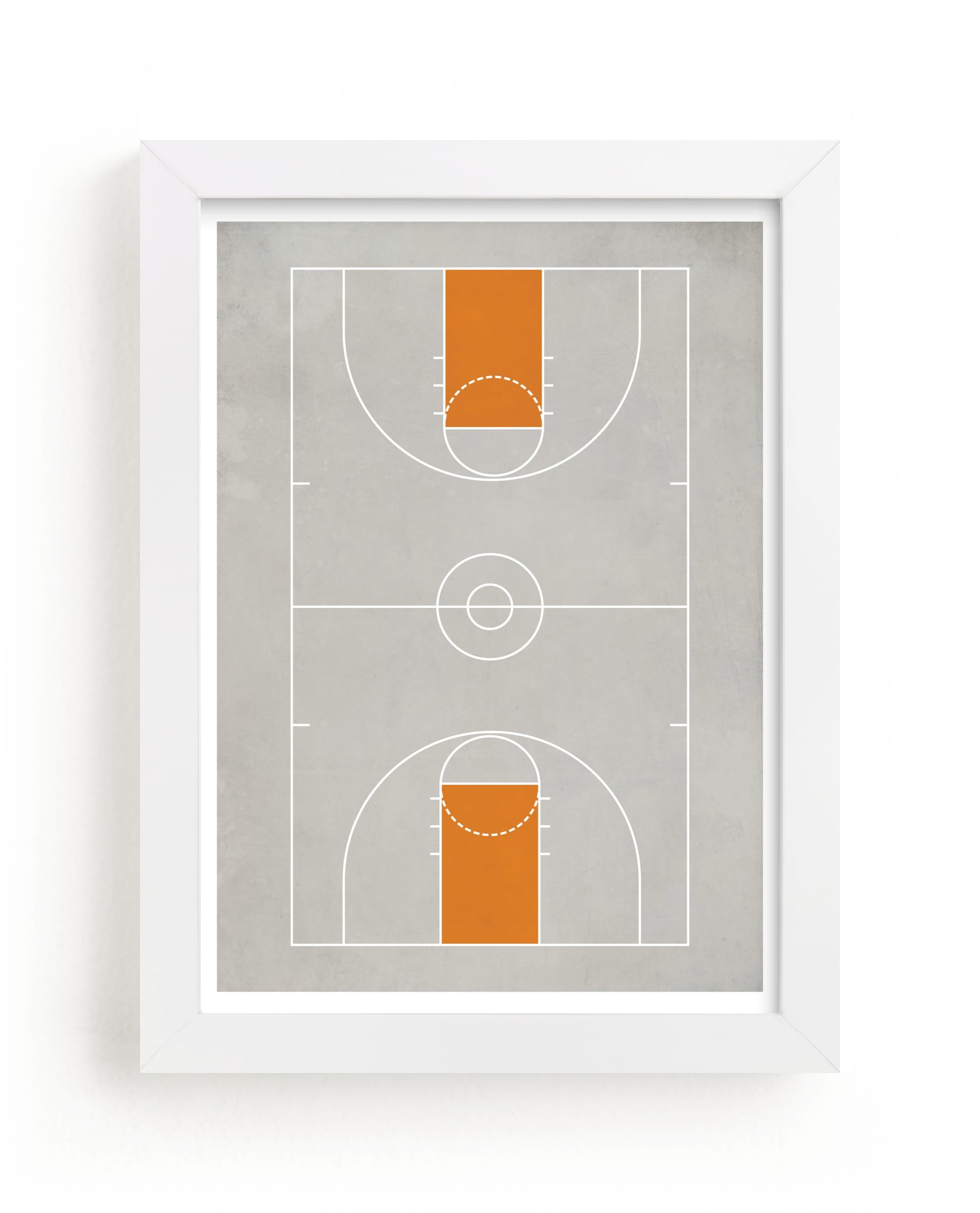 """""""Full Court"""" - Limited Edition Art Print by Jennifer Morehead in beautiful frame options and a variety of sizes."""
