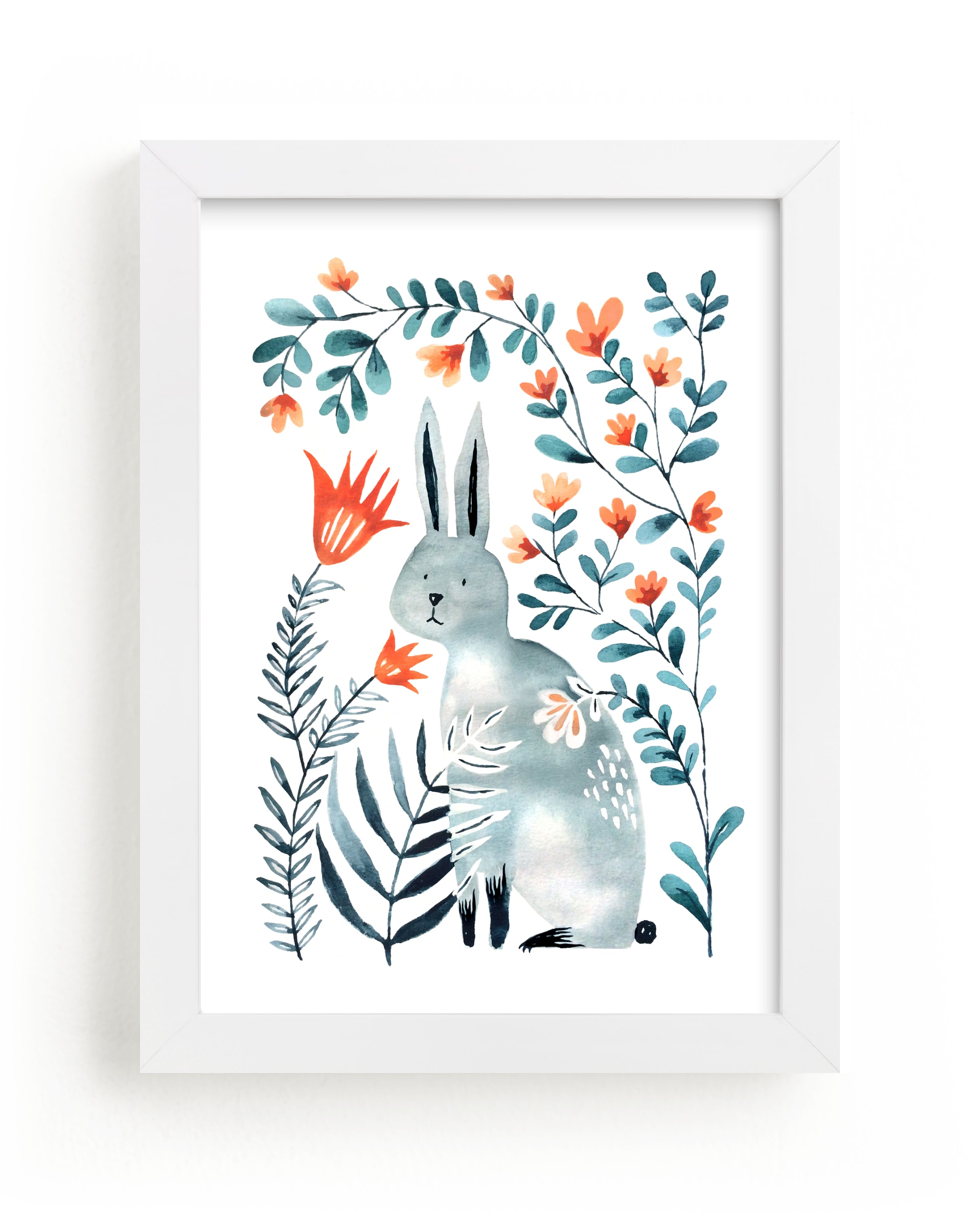 """""""Meadow Bunny"""" - Limited Edition Art Print by Surface Love in beautiful frame options and a variety of sizes."""