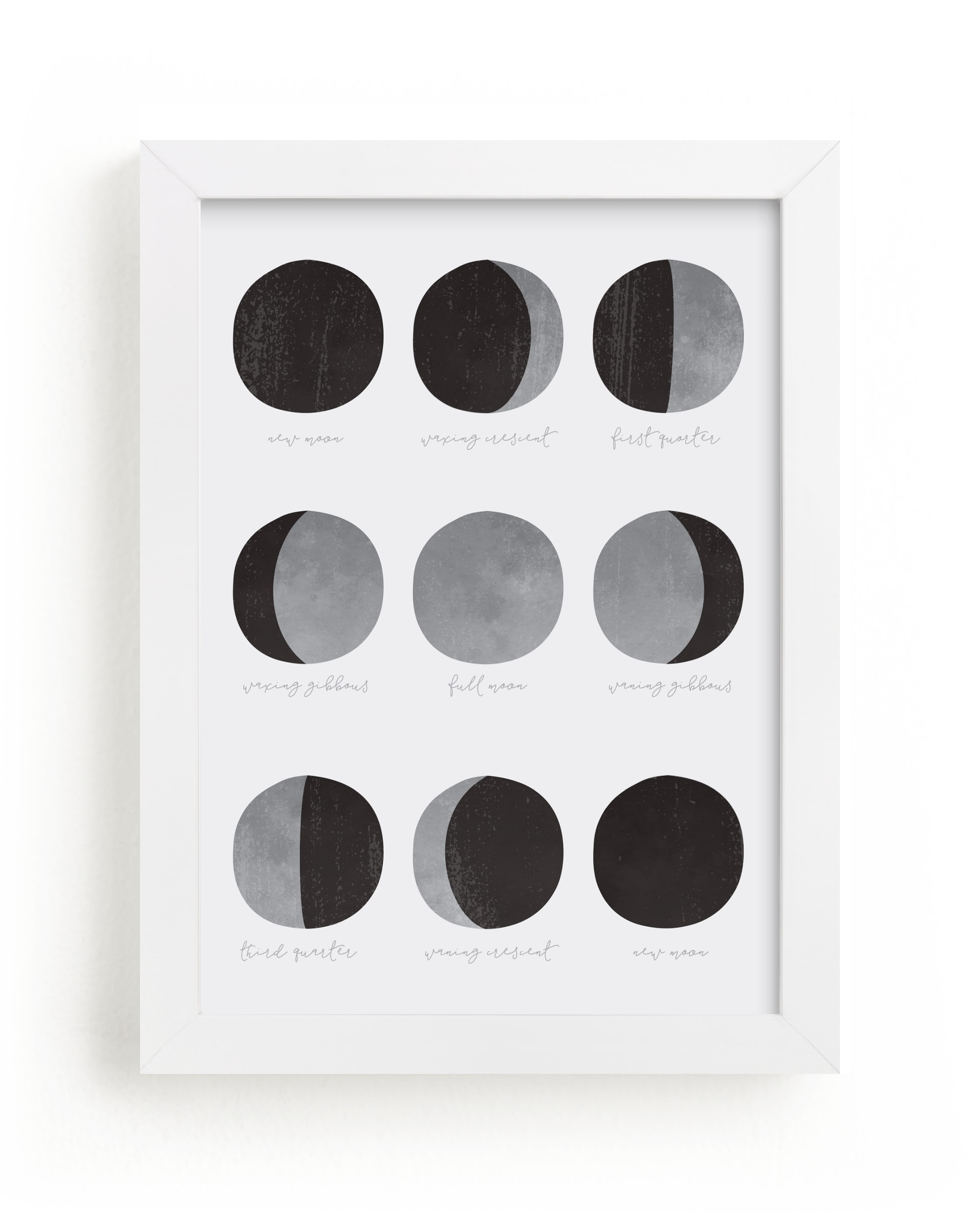 """the lunar cycle"" - Limited Edition Art Print by Dawn Jasper in beautiful frame options and a variety of sizes."
