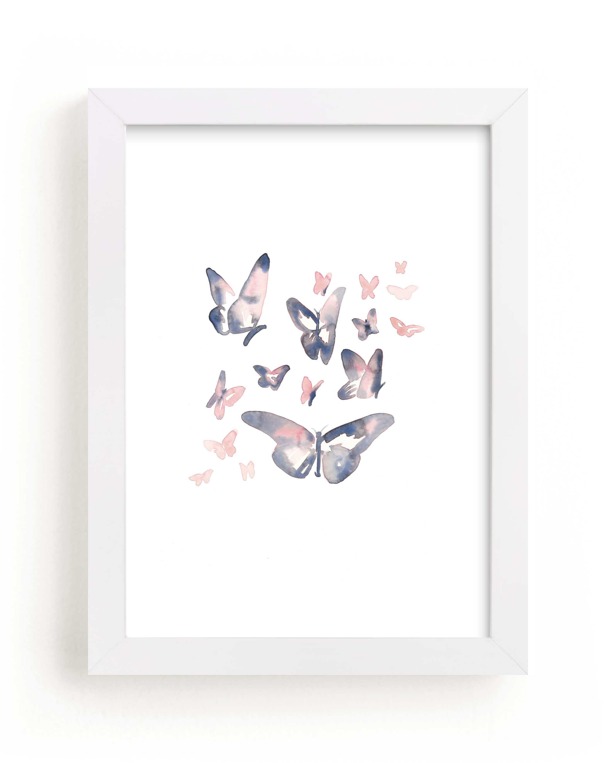 """""""Papillons"""" - Limited Edition Art Print by Jocelyn Edin in beautiful frame options and a variety of sizes."""