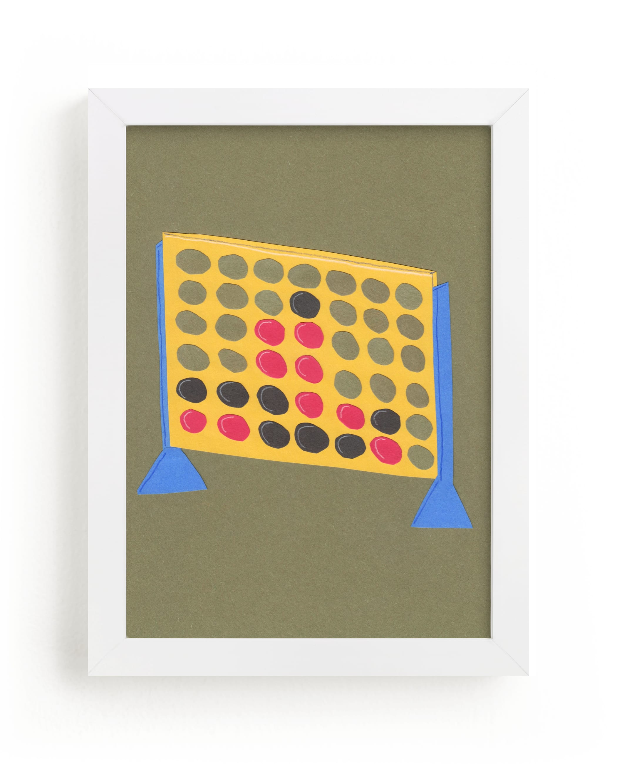 """Connect Four"" - Limited Edition Art Print by Elliot Stokes in beautiful frame options and a variety of sizes."