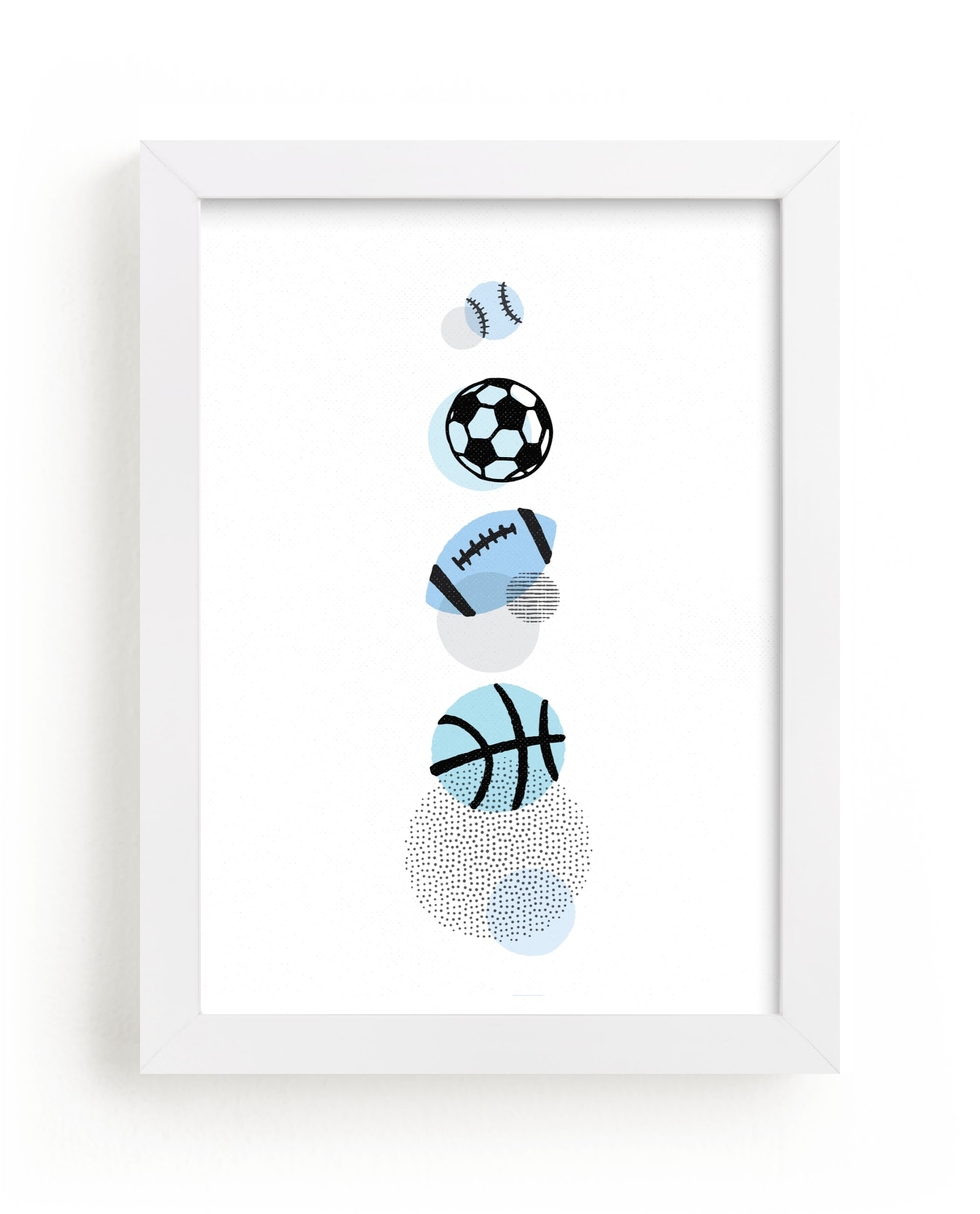 """""""Pop Art Sports"""" - Limited Edition Art Print by Jessie Steury in beautiful frame options and a variety of sizes."""