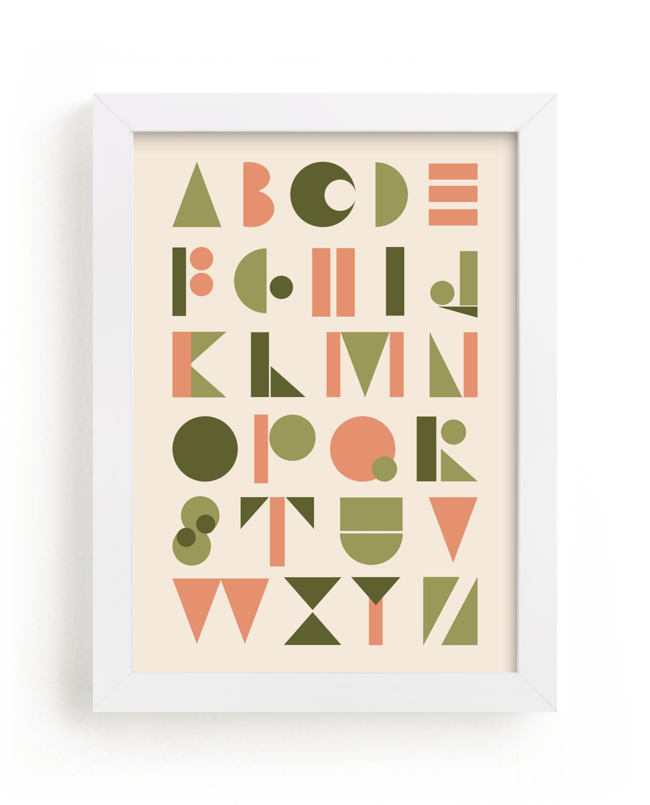 """Mod Alphabet"" - Limited Edition Art Print by Morgan Kendall in beautiful frame options and a variety of sizes."