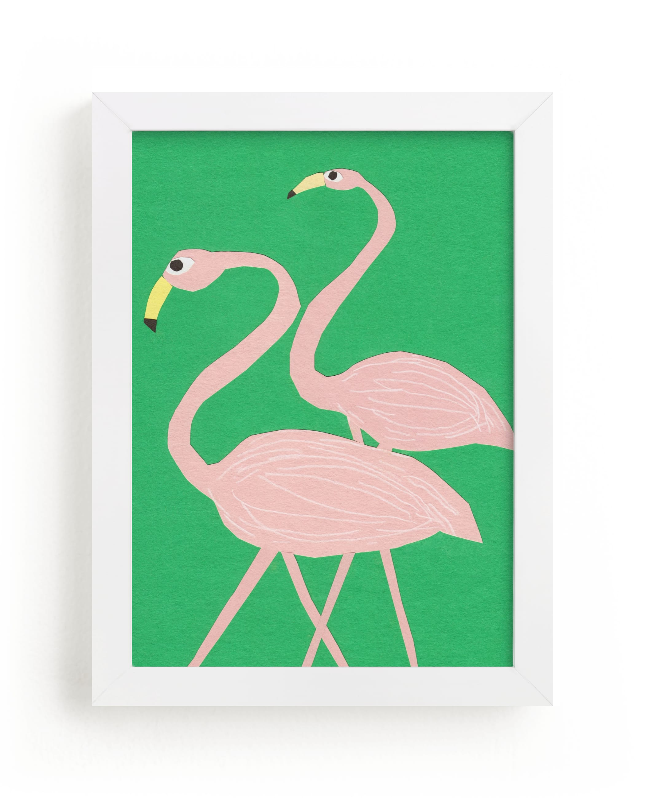 """""""Flamingo Amigos"""" - Limited Edition Art Print by Elliot Stokes in beautiful frame options and a variety of sizes."""