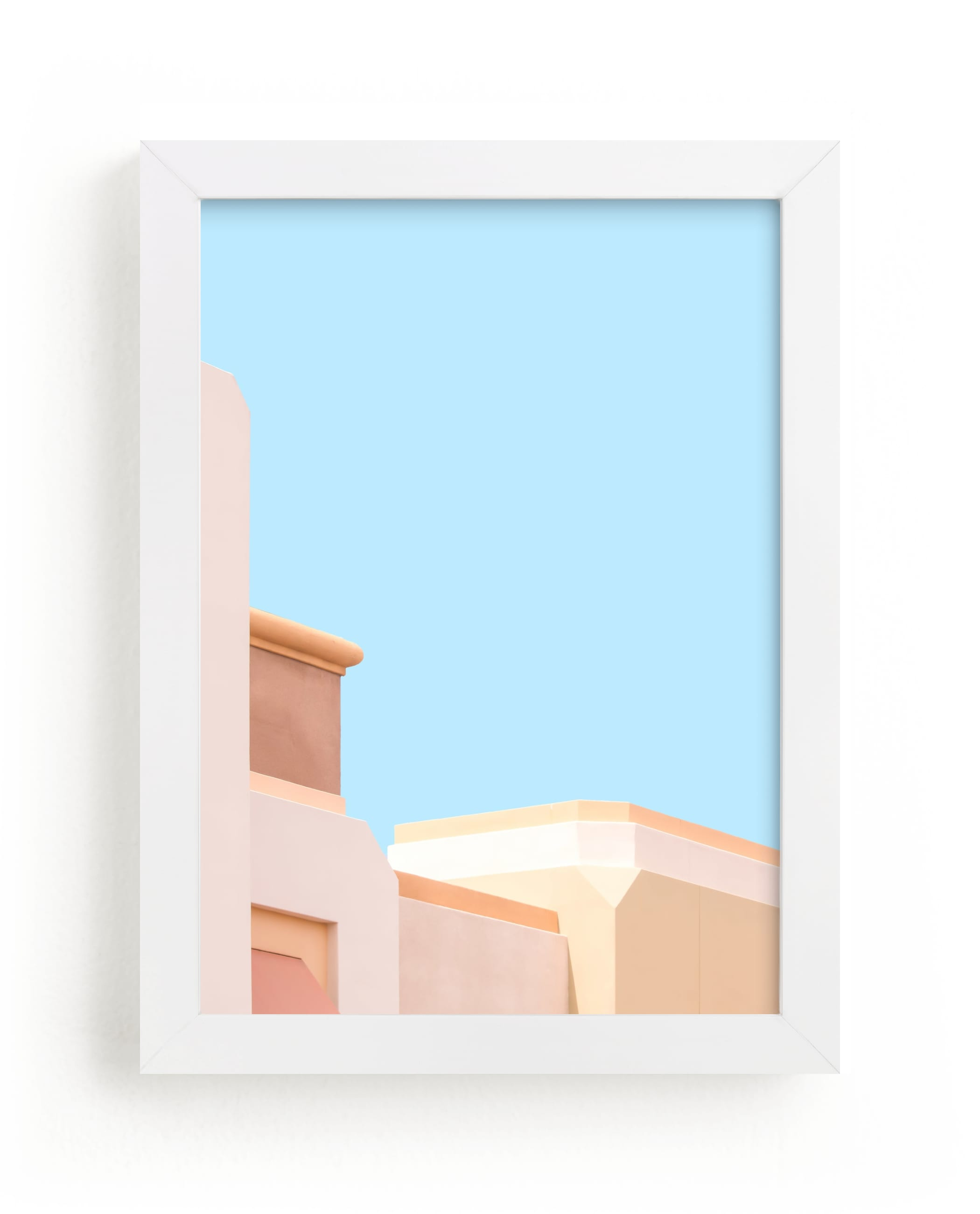 """""""Pastel Desert Archiecture"""" - Limited Edition Art Print by Lisa Sundin in beautiful frame options and a variety of sizes."""