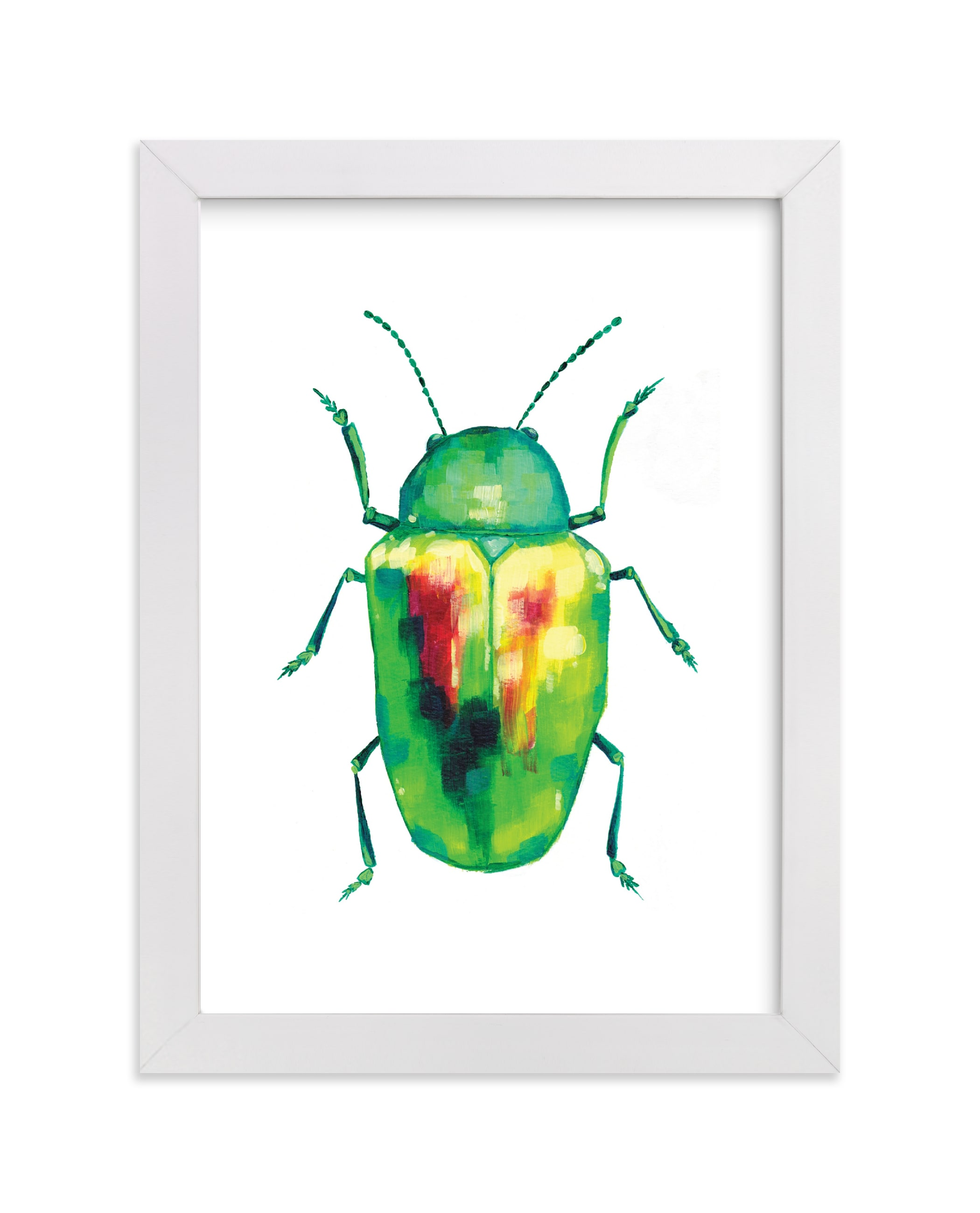 """""""Emerald Dogbane Beetle"""" - Limited Edition Art Print by Holly Whitcomb in beautiful frame options and a variety of sizes."""