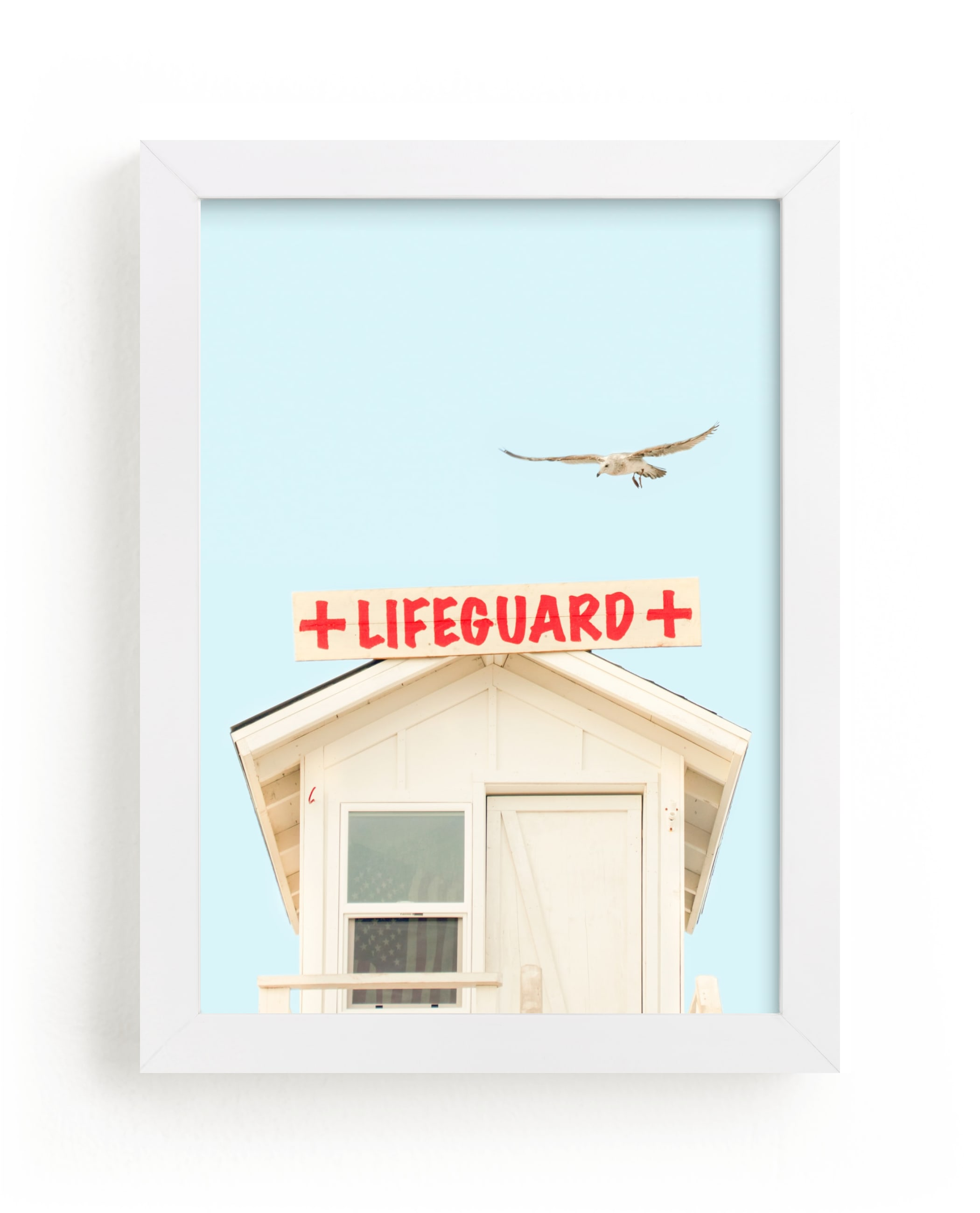 """The Lifeguard"" - Limited Edition Art Print by Lisa Sundin in beautiful frame options and a variety of sizes."
