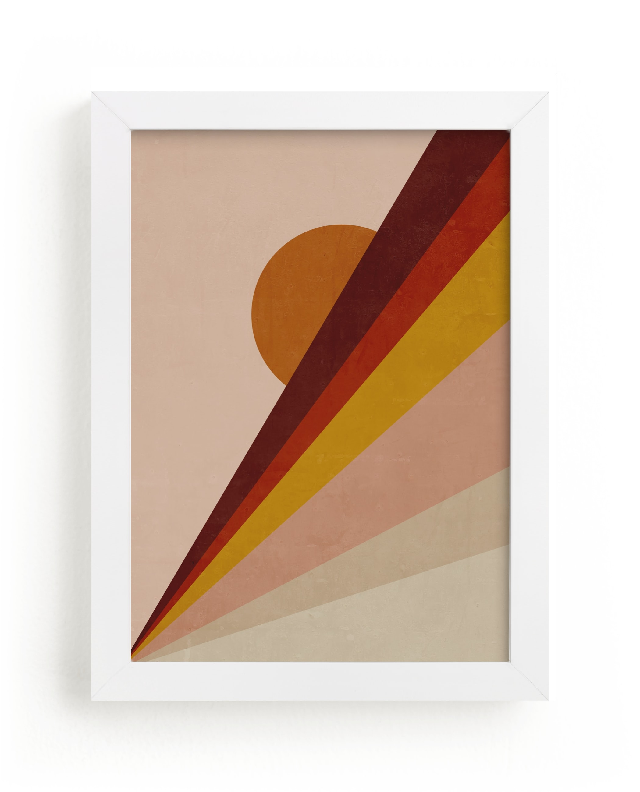 """""""Abstract Sunrise"""" - Limited Edition Art Print by Lucrecia in beautiful frame options and a variety of sizes."""