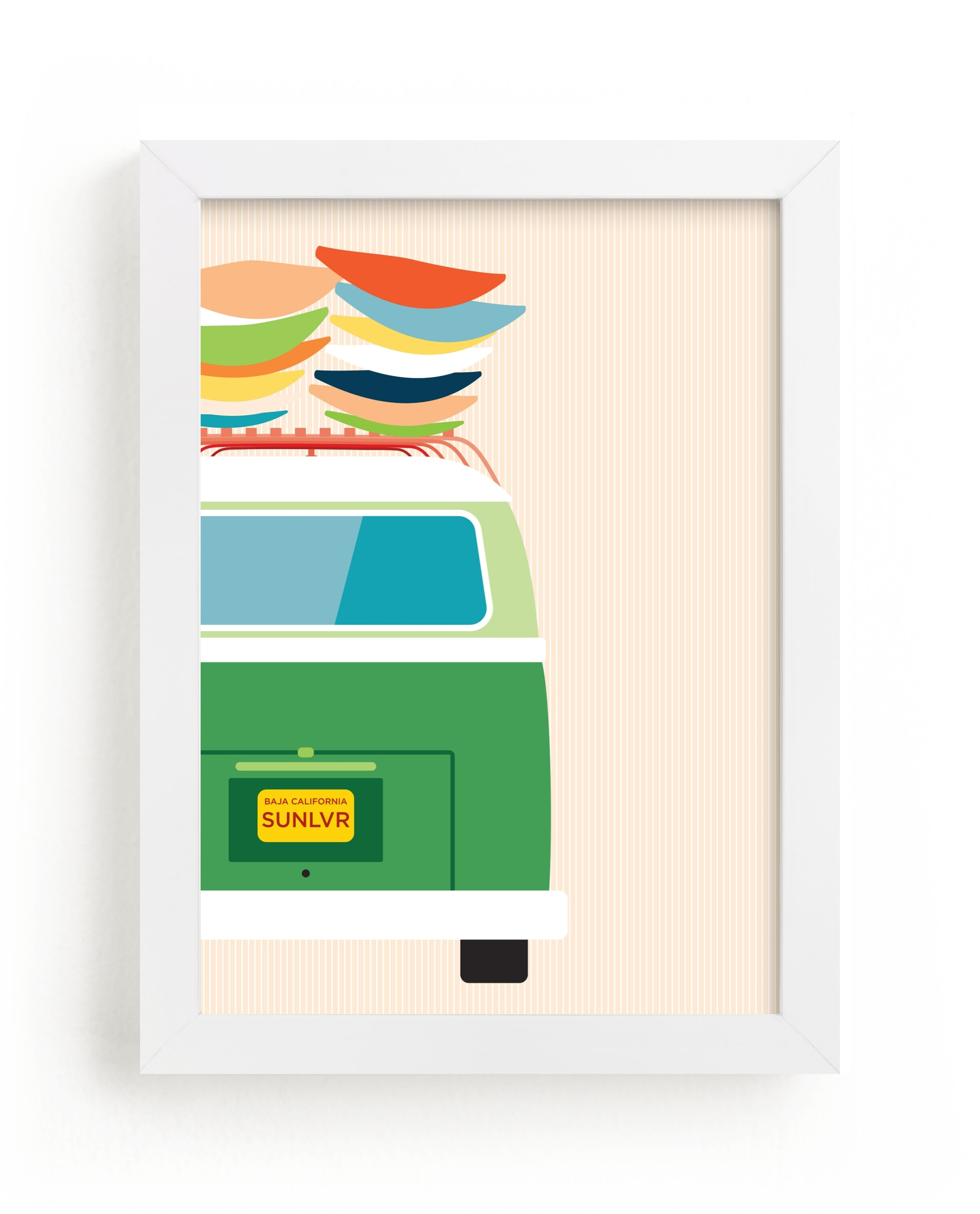"""""""Adventure Bus"""" - Limited Edition Art Print by Kamala Nahas in beautiful frame options and a variety of sizes."""