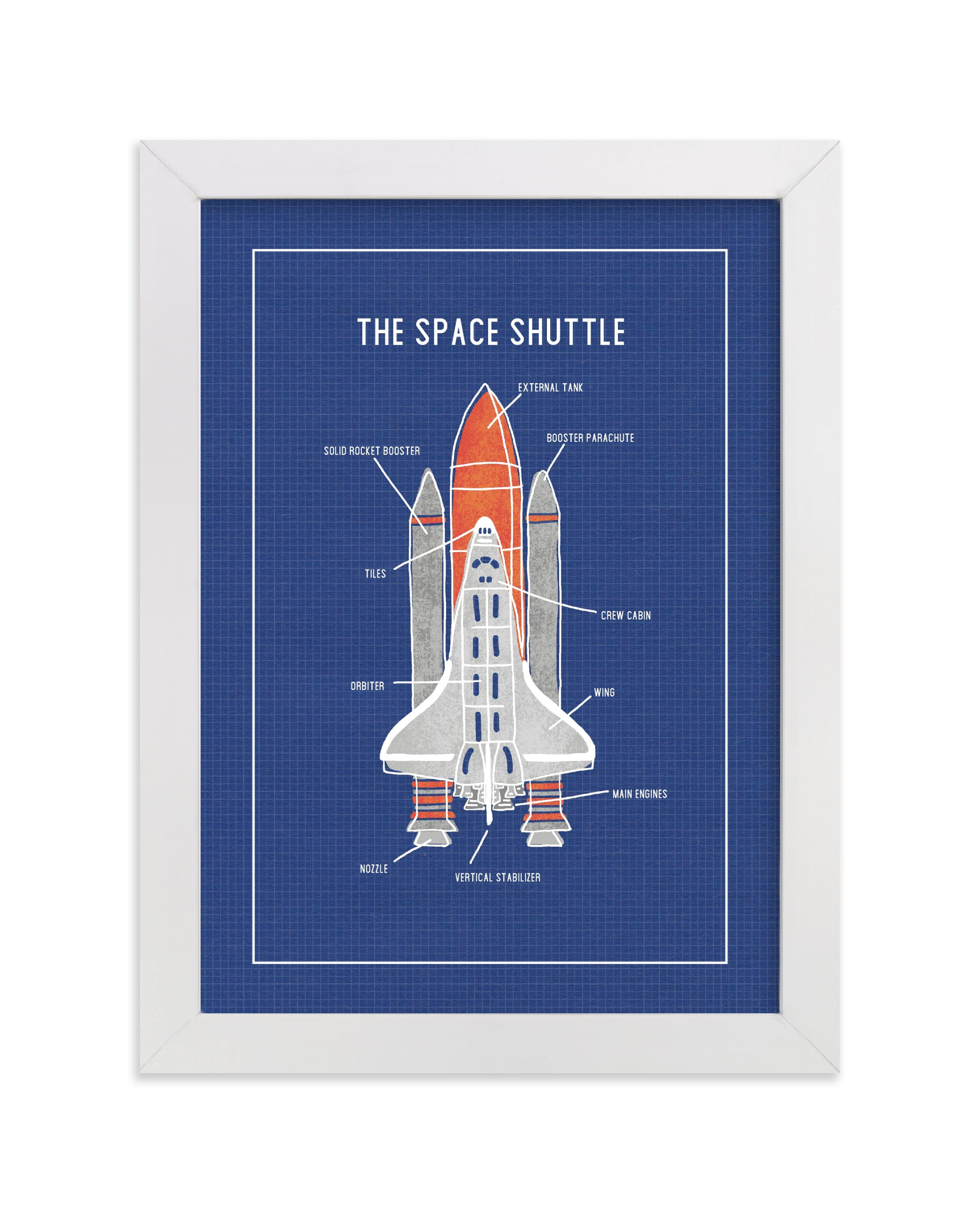 """""""The Space Shuttle"""" - Limited Edition Art Print by Meggy Masters in beautiful frame options and a variety of sizes."""