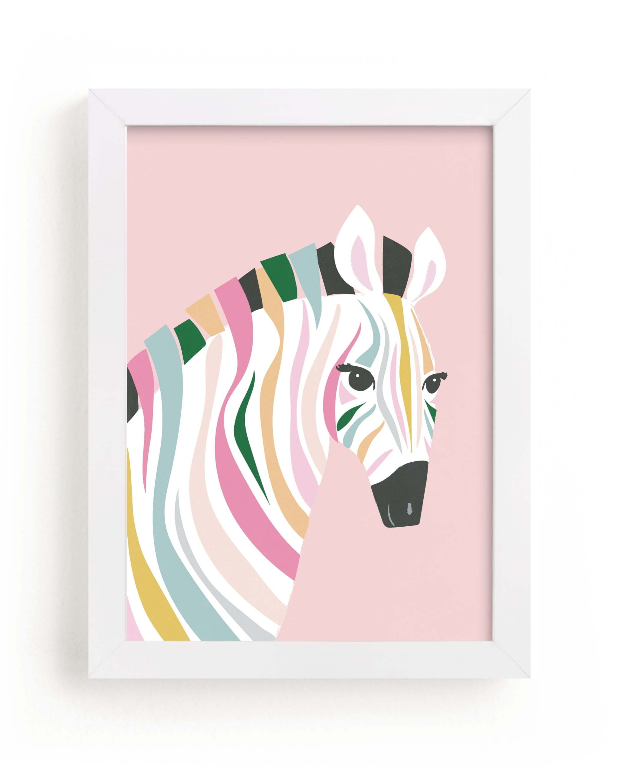 """""""colorful zebra"""" - Limited Edition Art Print by Karidy Walker in beautiful frame options and a variety of sizes."""