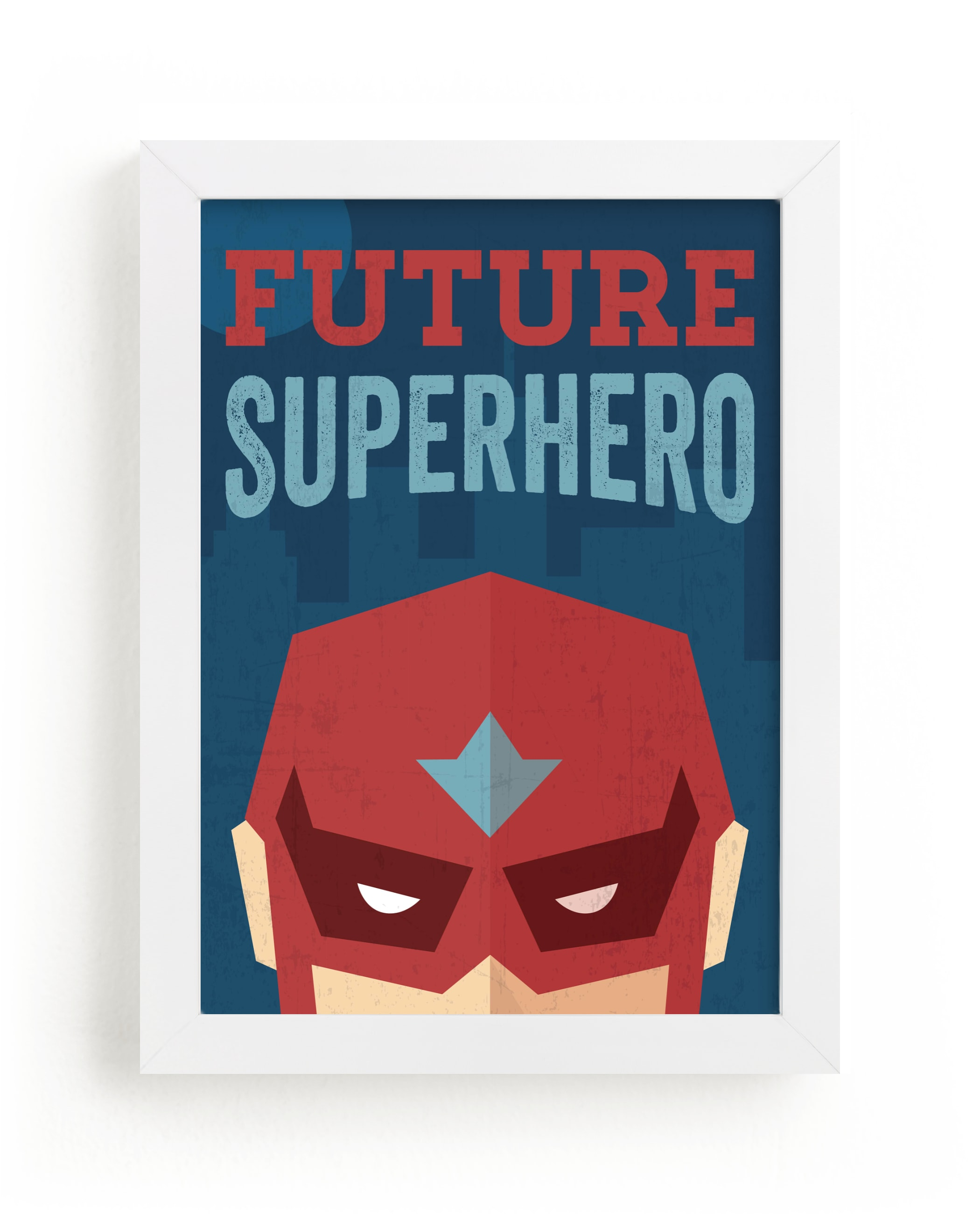 """""""He's a Future Superhero"""" by Jennifer Morehead in beautiful frame options and a variety of sizes."""
