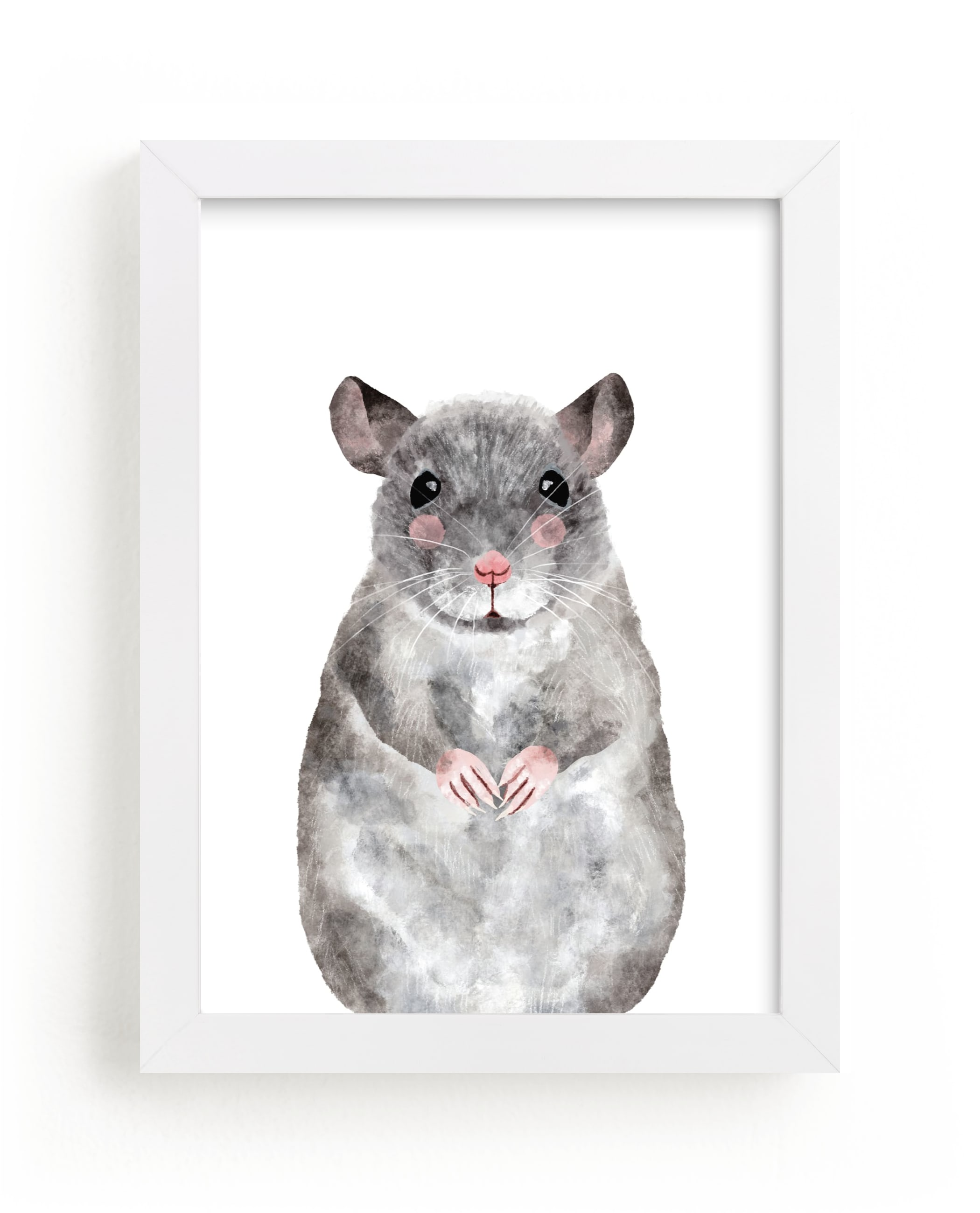 """""""Baby Animal Rat"""" by Cass Loh in beautiful frame options and a variety of sizes."""
