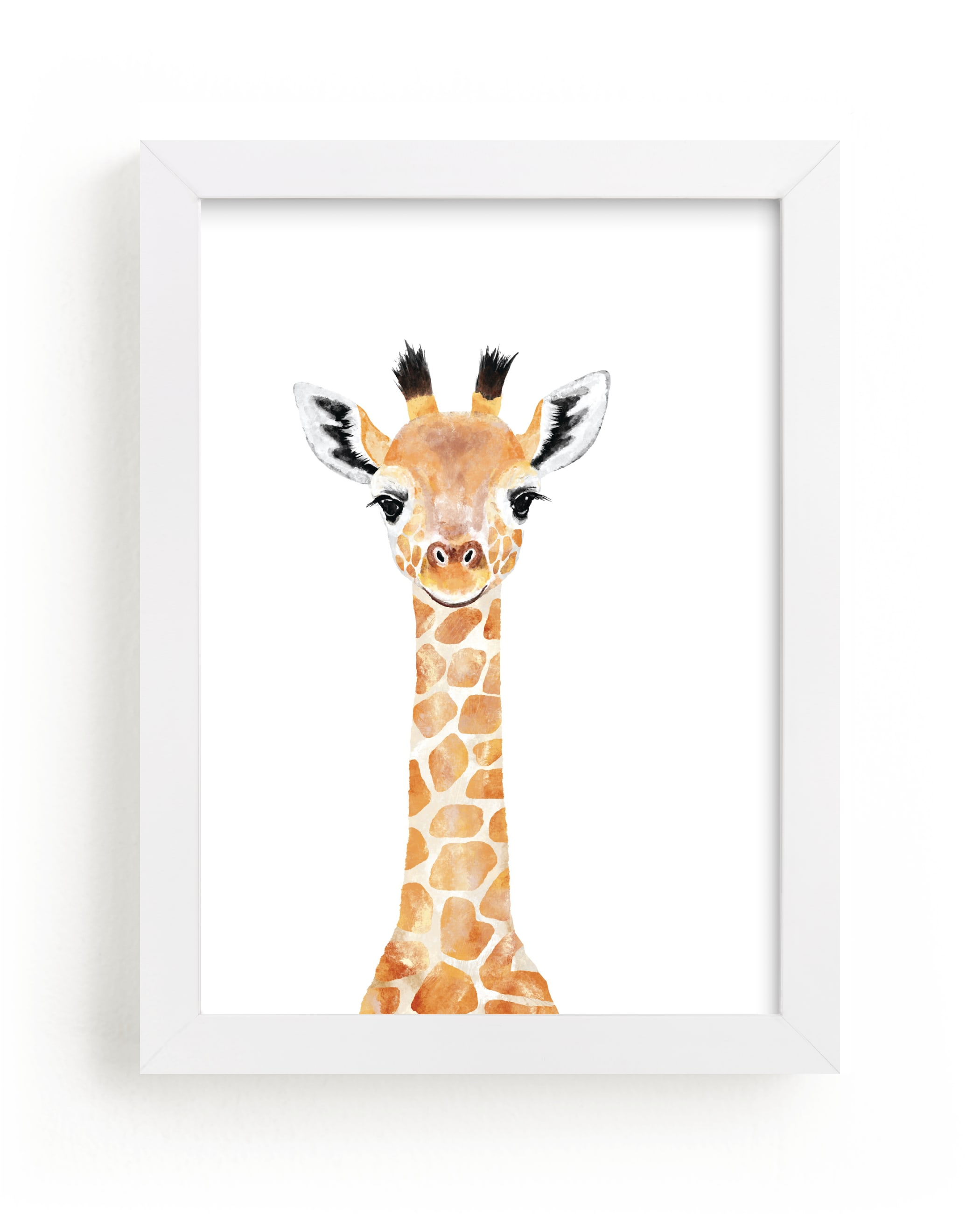 """""""Baby Giraffe 2"""" by Cass Loh in beautiful frame options and a variety of sizes."""