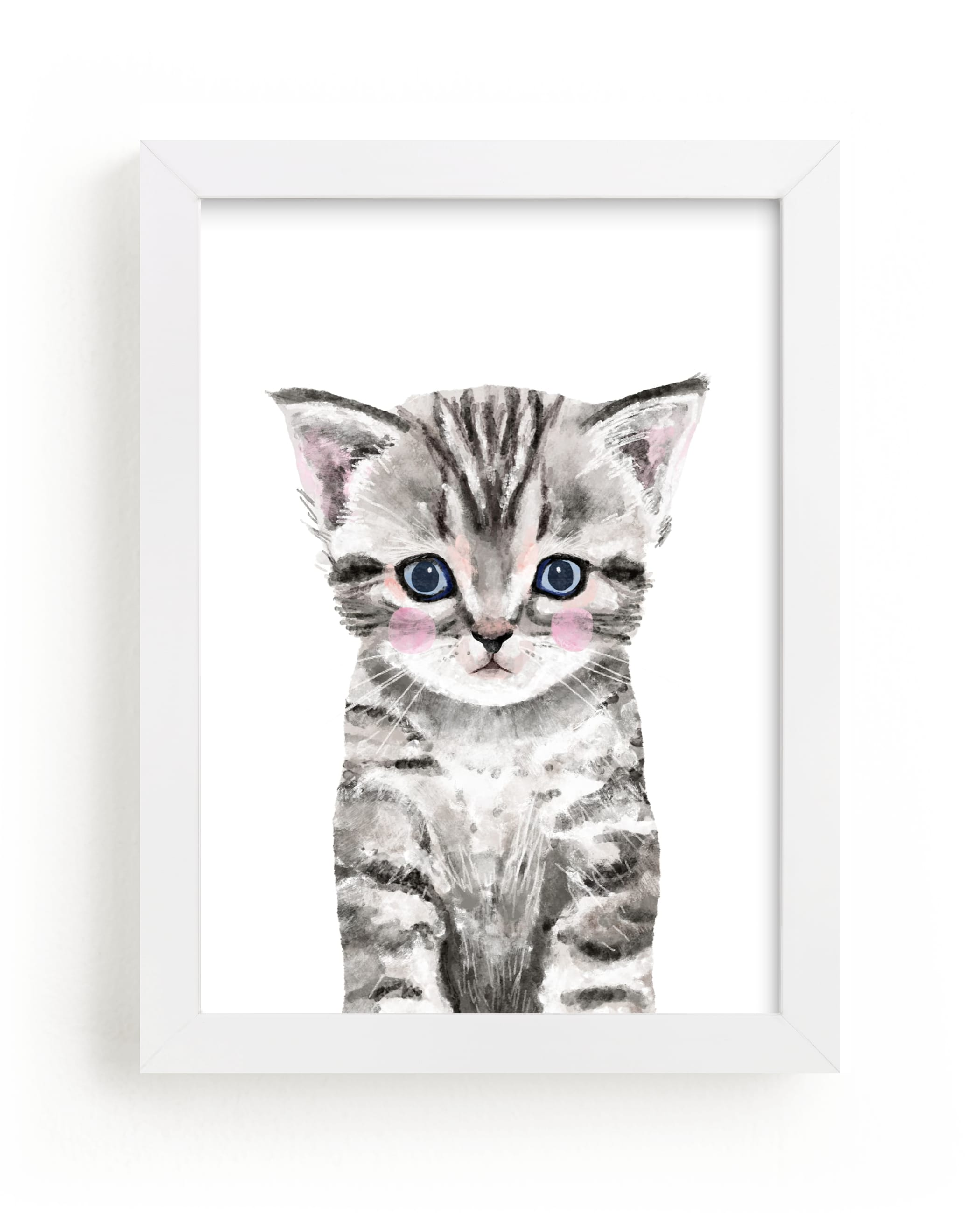 """""""Baby Kitten"""" by Cass Loh in beautiful frame options and a variety of sizes."""