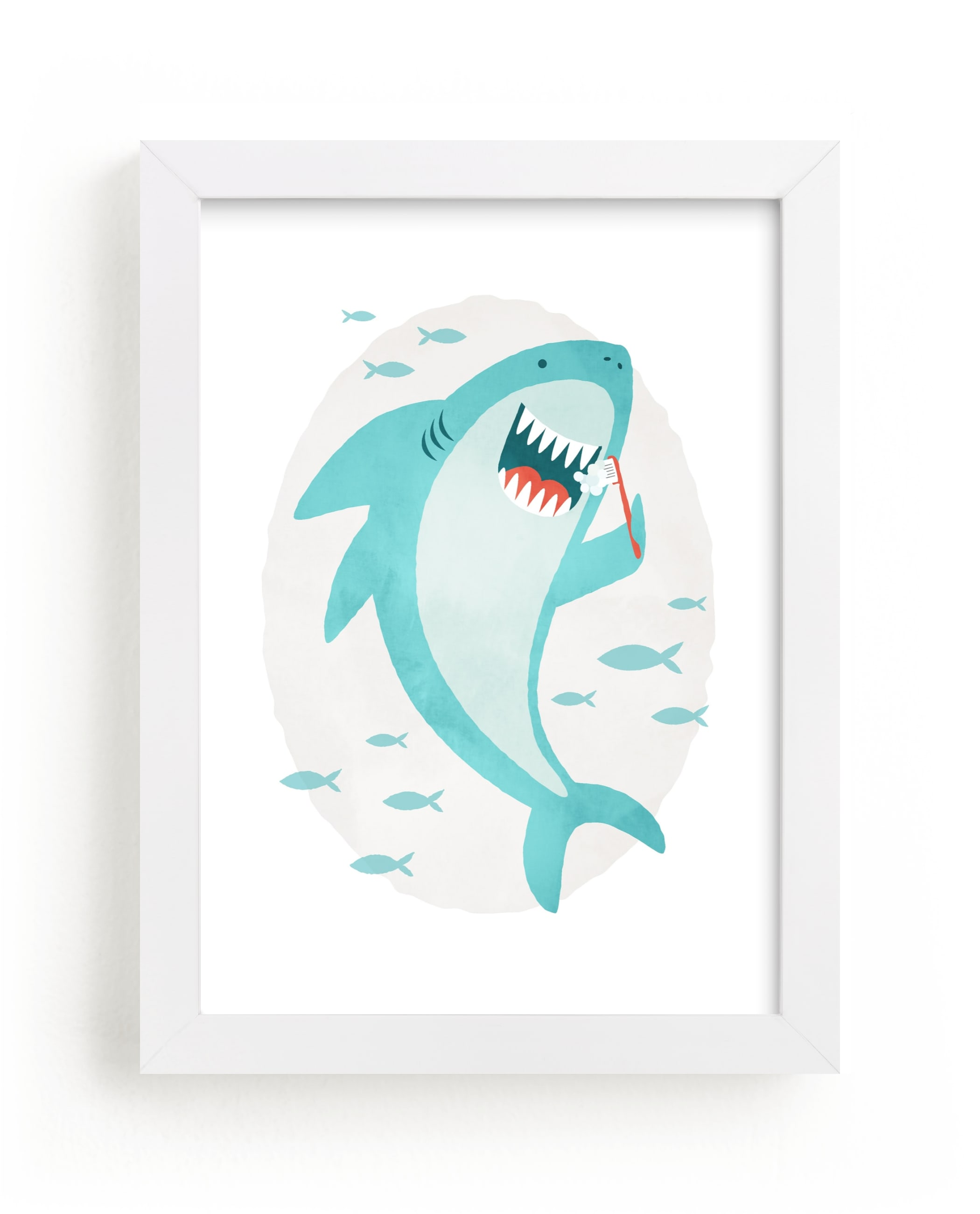 """great white teeth"" by Susan Asbill in beautiful frame options and a variety of sizes."