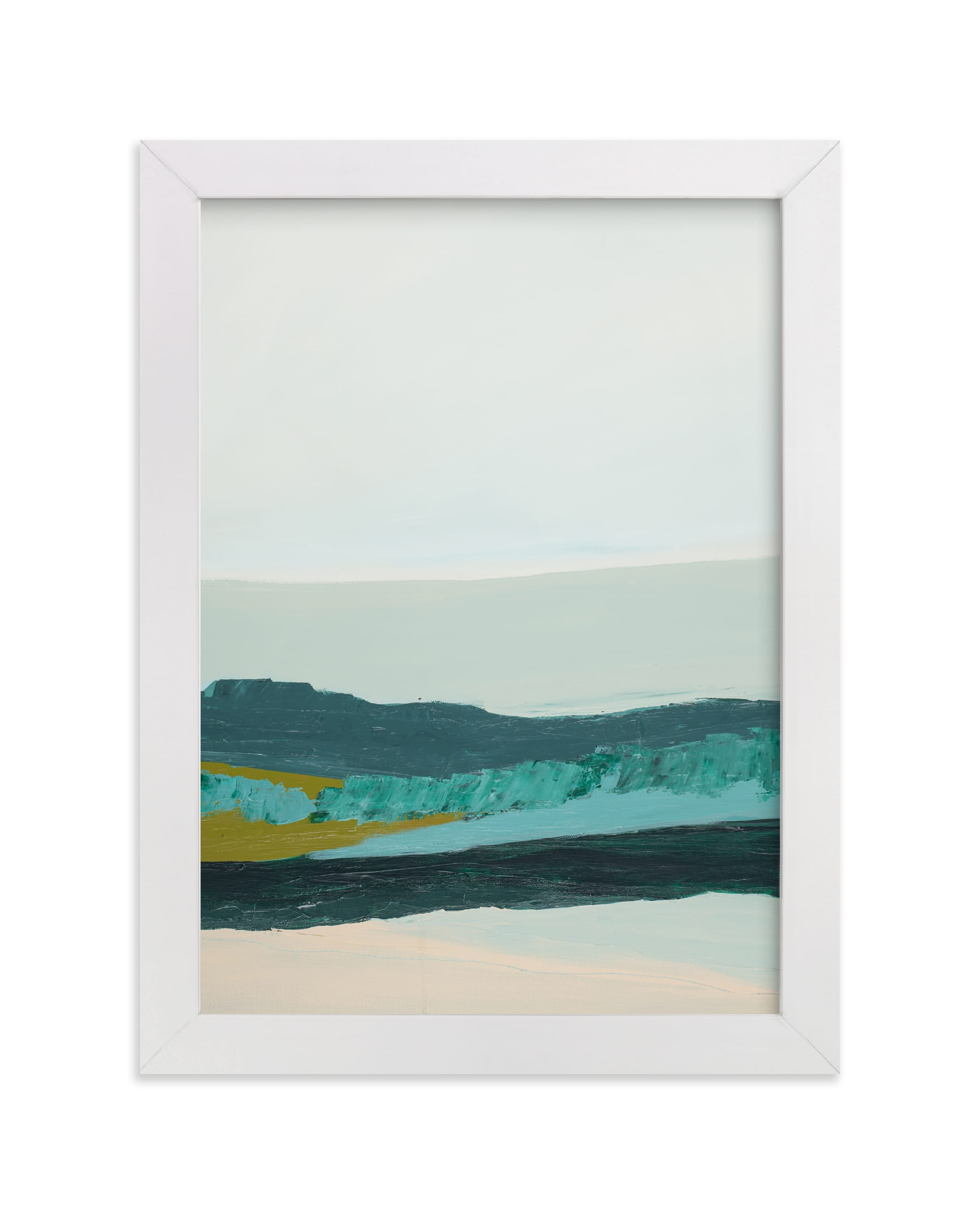 """""""Abstract  Seascape Jade Green"""" - Art Print by Caryn Owen in beautiful frame options and a variety of sizes."""
