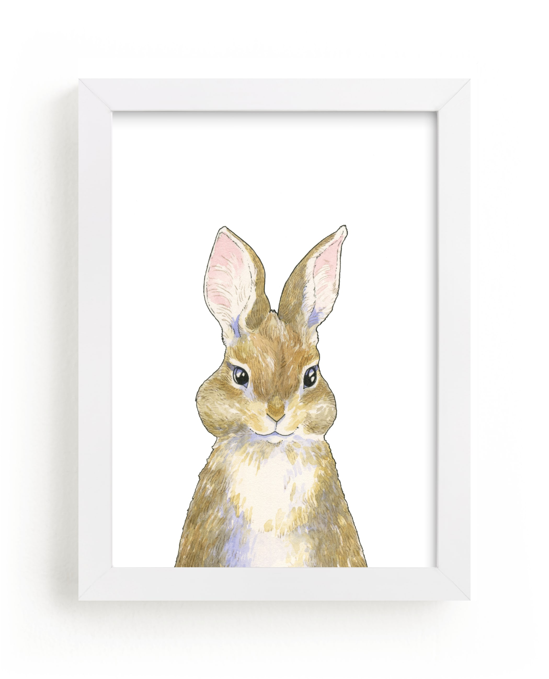 """""""Beloved Bunny"""" - Art Print by Natalie Groves in beautiful frame options and a variety of sizes."""