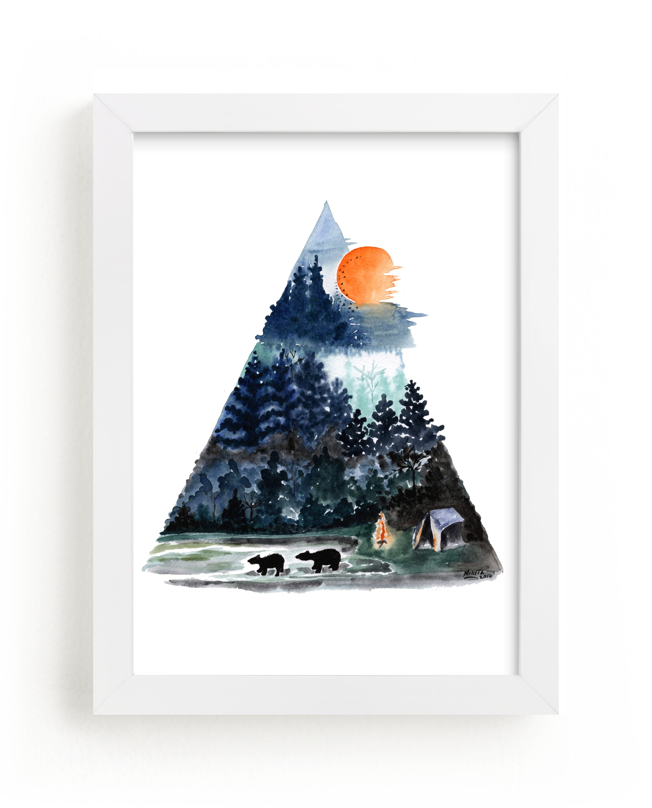 """""""Camping and nature"""" - Art Print by Nikita Jariwala in beautiful frame options and a variety of sizes."""