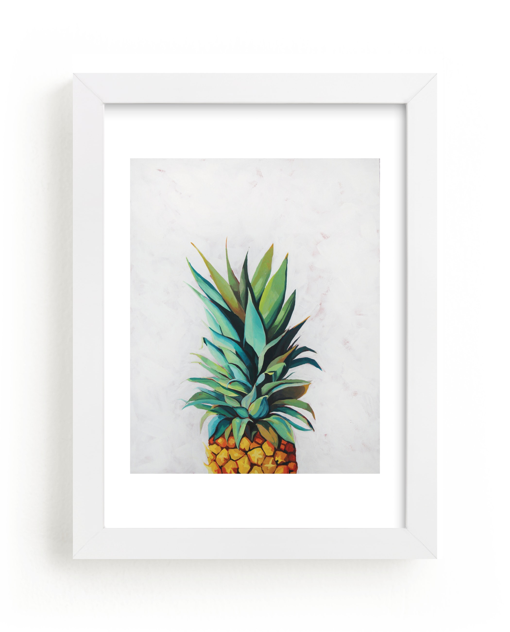 """""""Pineapple Crown"""" - Art Print by Amanda Phelps in beautiful frame options and a variety of sizes."""