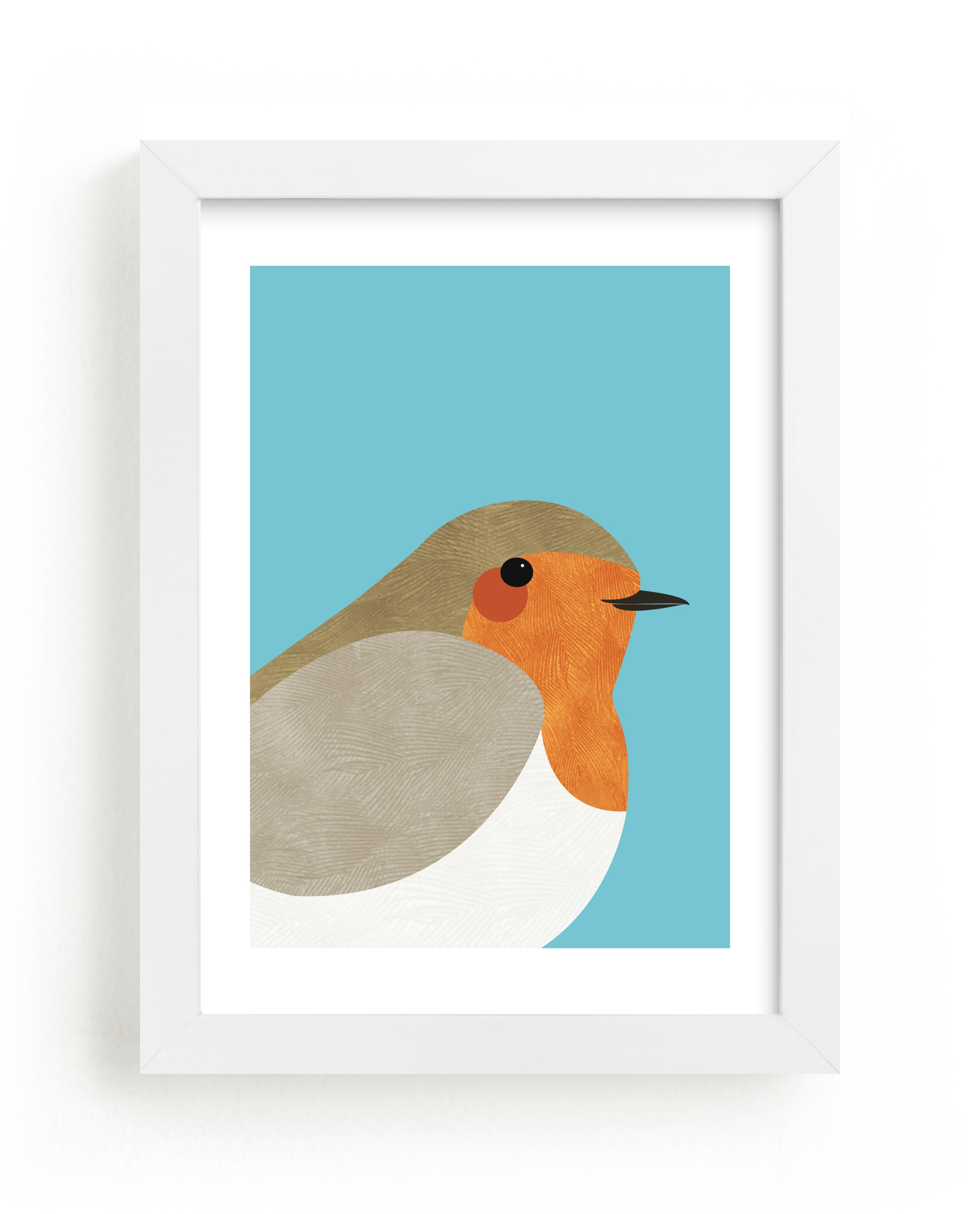 """""""Little Winter Robin"""" - Art Print by Catherine Culvenor in beautiful frame options and a variety of sizes."""