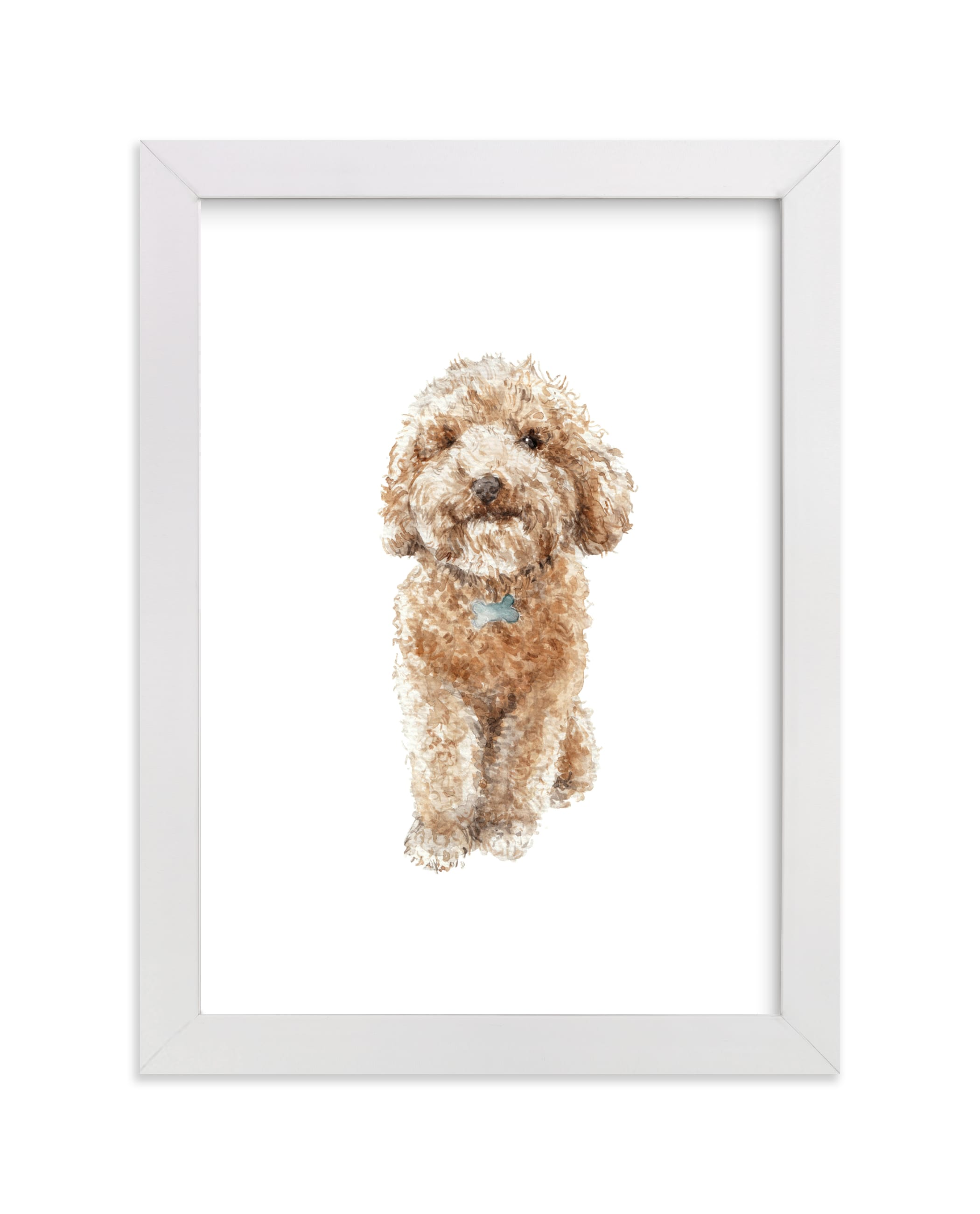 """""""Smiling Poodle Puppy"""" - Art Print by Lauren Rogoff in beautiful frame options and a variety of sizes."""