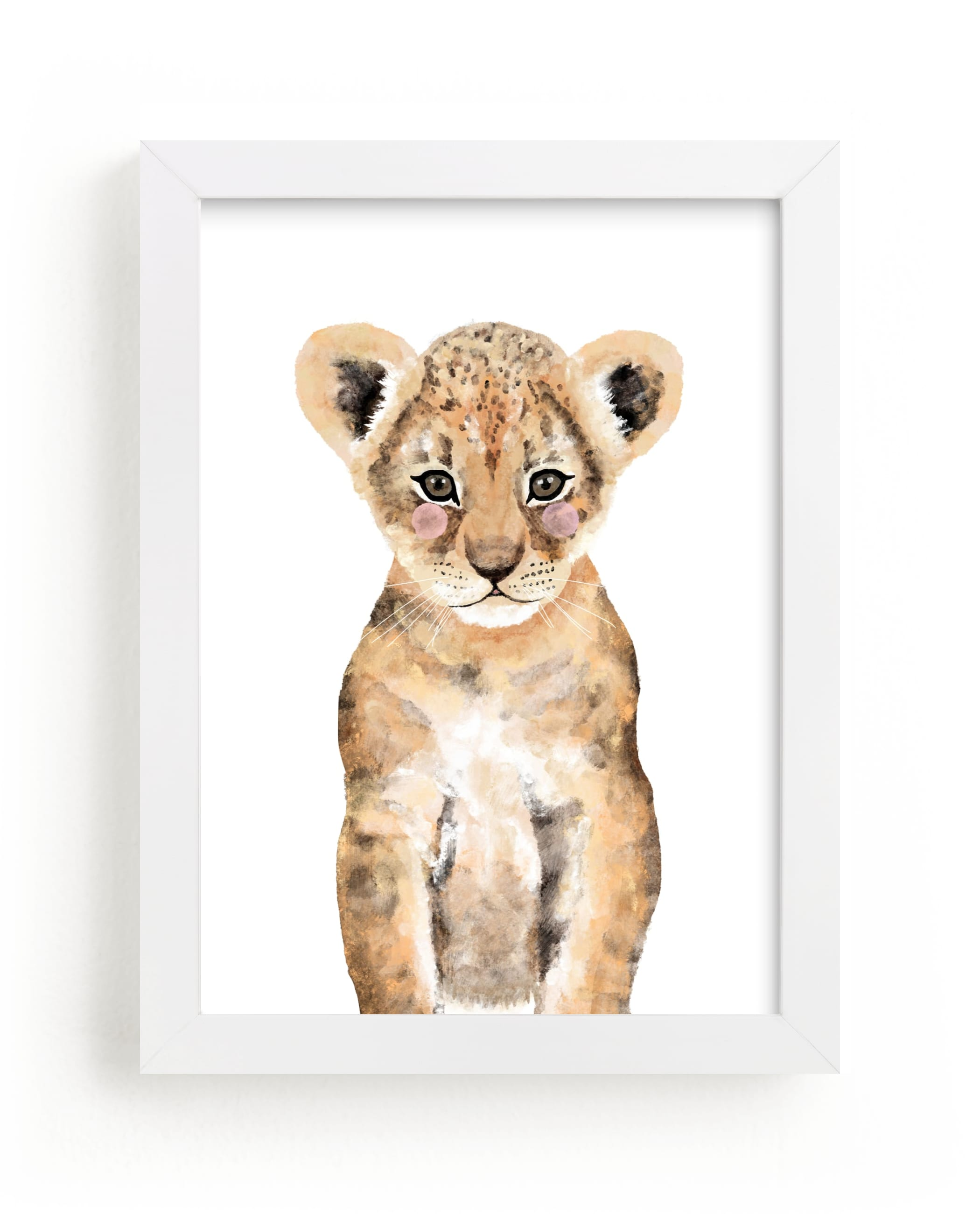 """""""Baby Animal Lion"""" - Art Print by Cass Loh in beautiful frame options and a variety of sizes."""