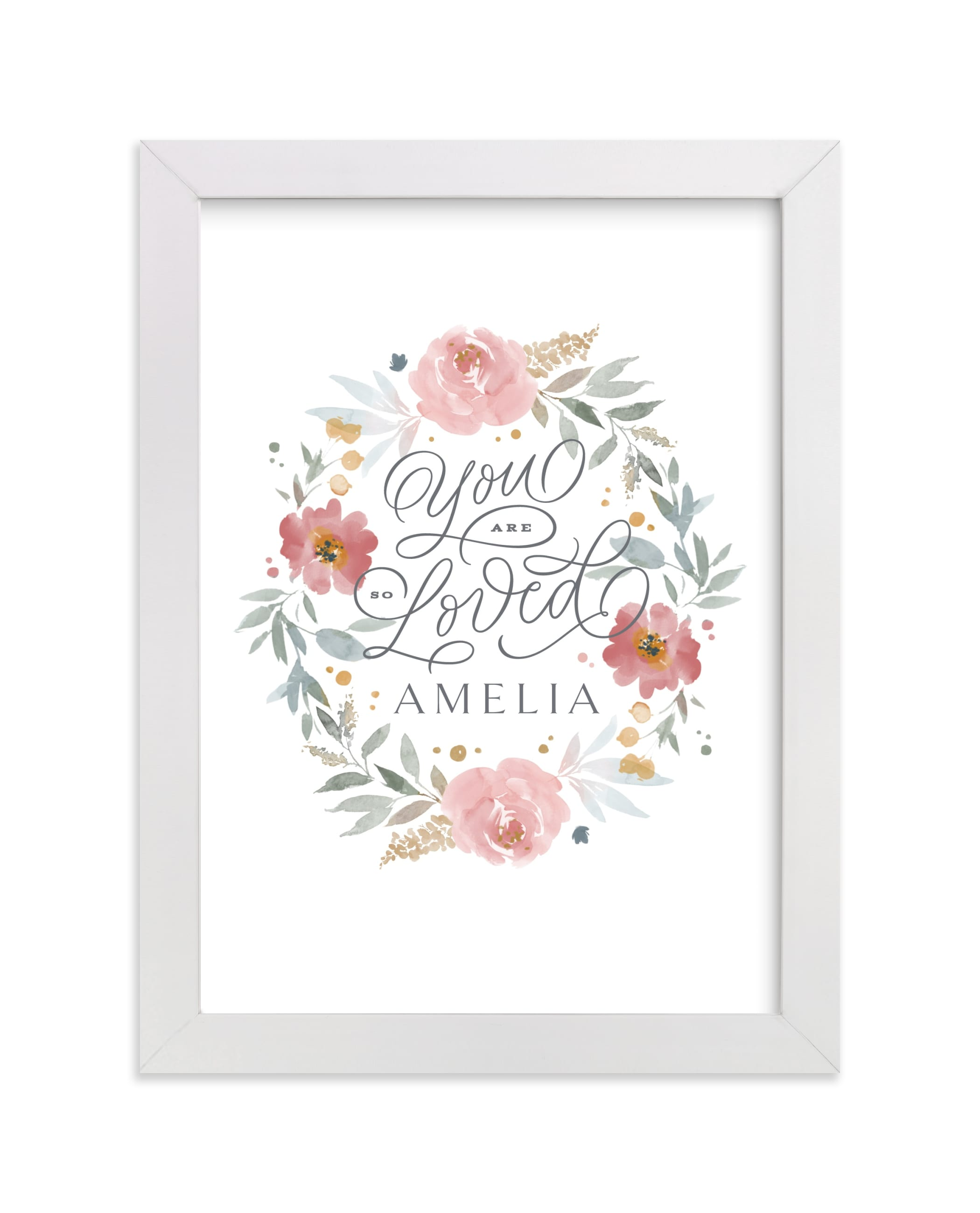 """""""You Are So Loved Little One"""" - Nursery Custom Art Print by Kristen Smith in beautiful frame options and a variety of sizes."""
